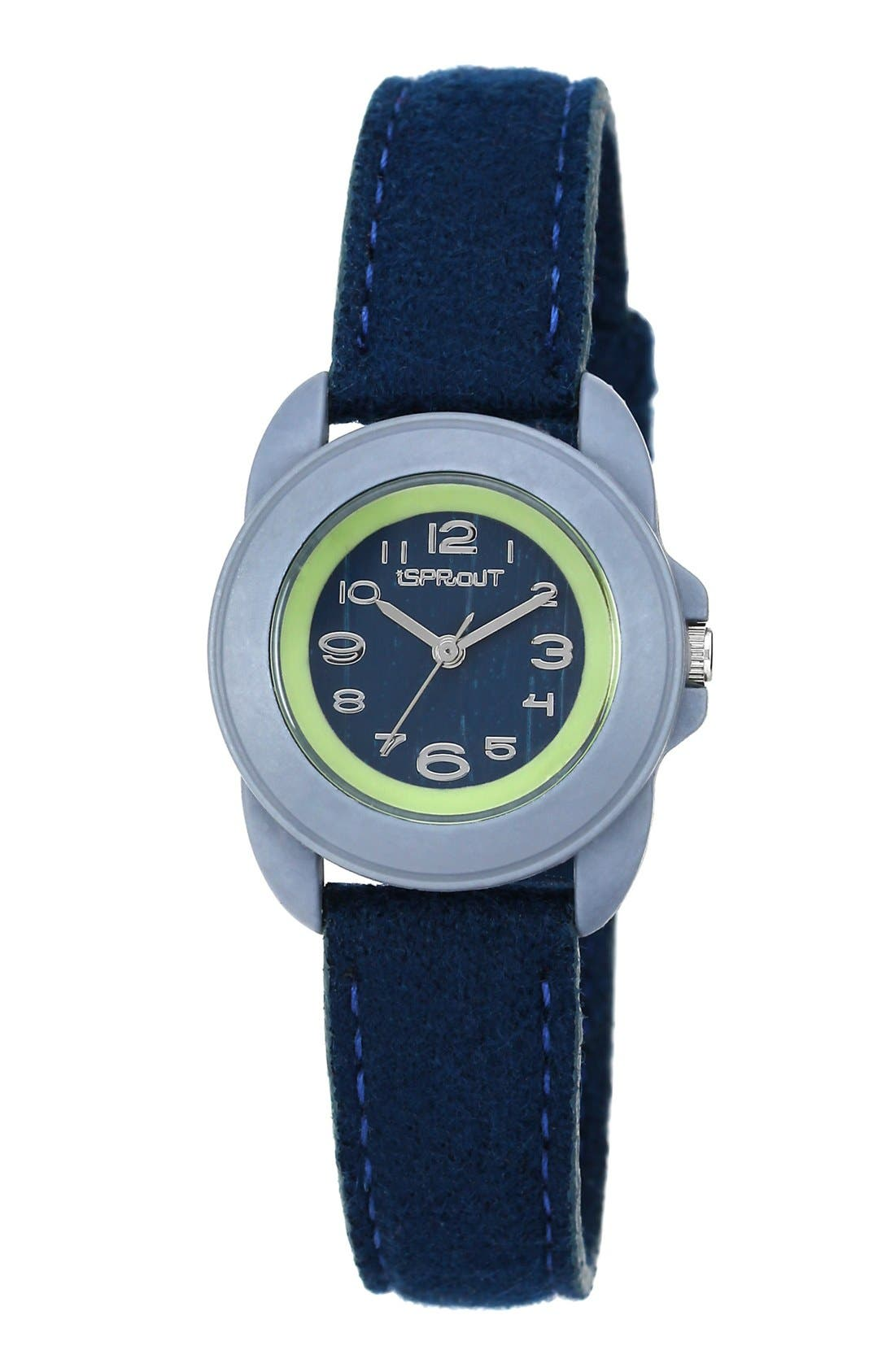 Round Felt Strap Watch, 22mm, Main, color, 440