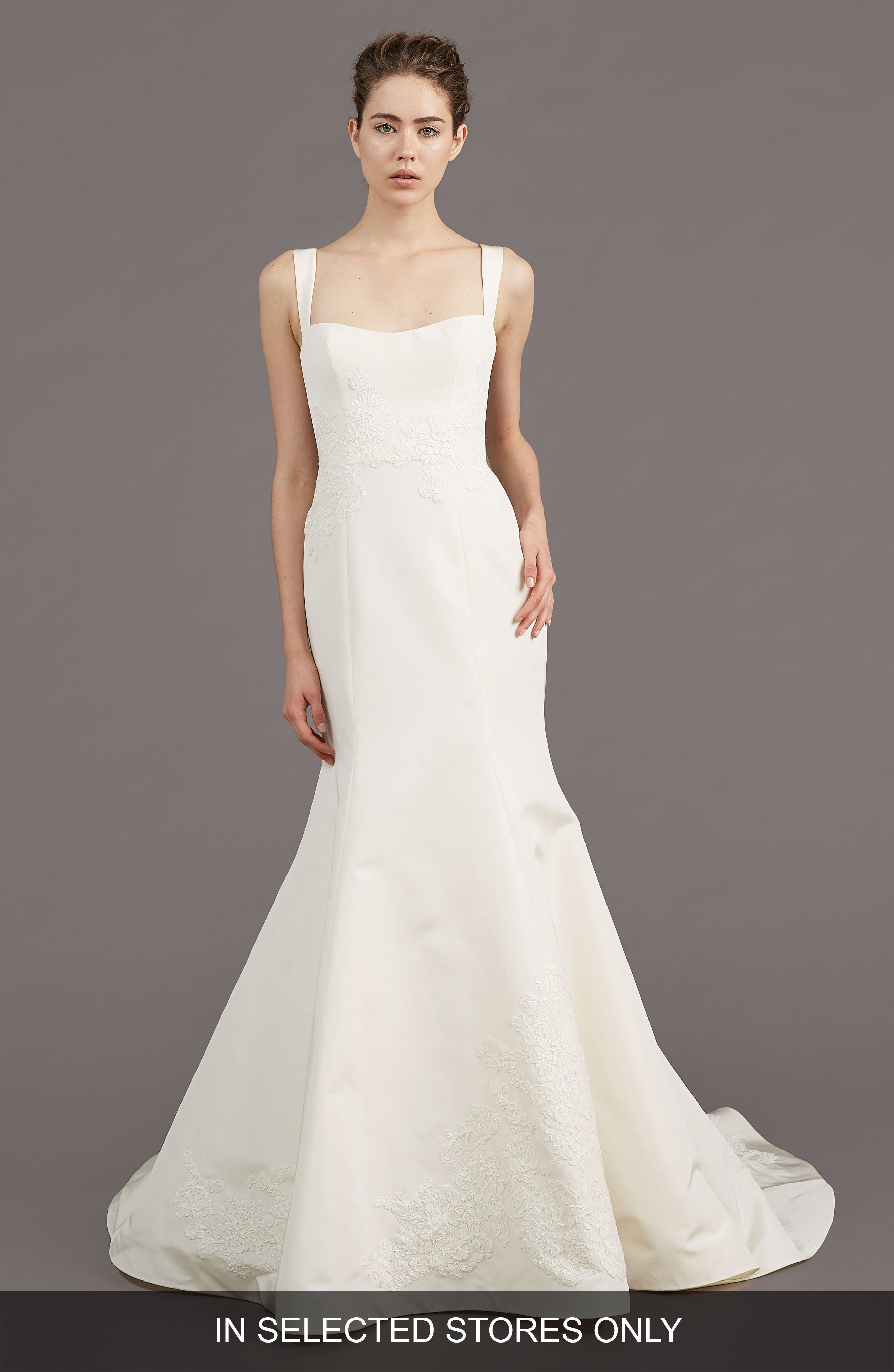 Mave Silk Blend Mermaid Gown,                         Main,                         color, IVORY