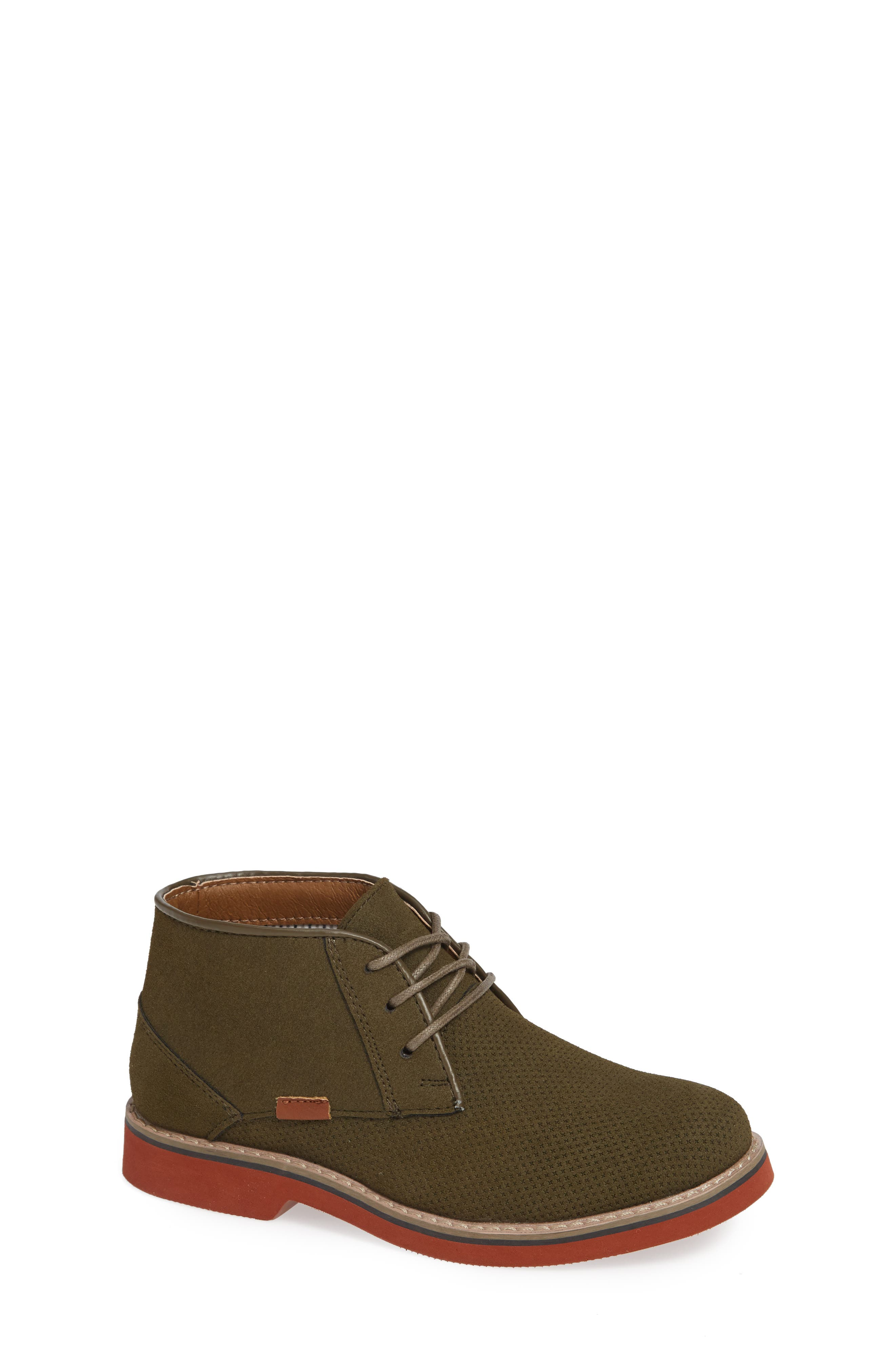 STEVE MADDEN Jake Textured Chukka Boot, Main, color, OLIVE