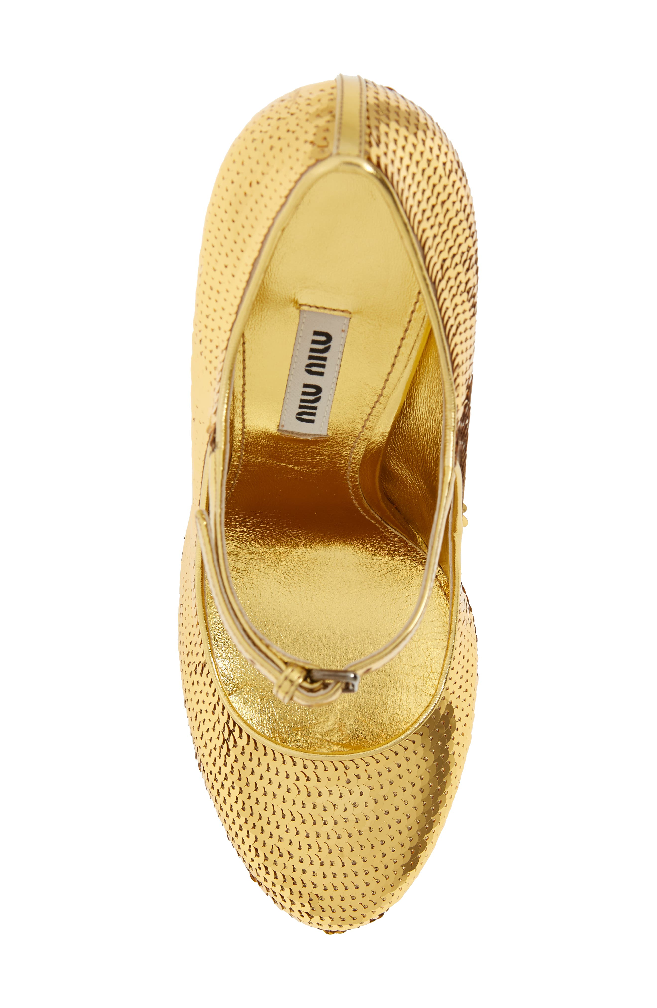 Sequin Mary Jane Pump,                             Alternate thumbnail 5, color,                             GOLD