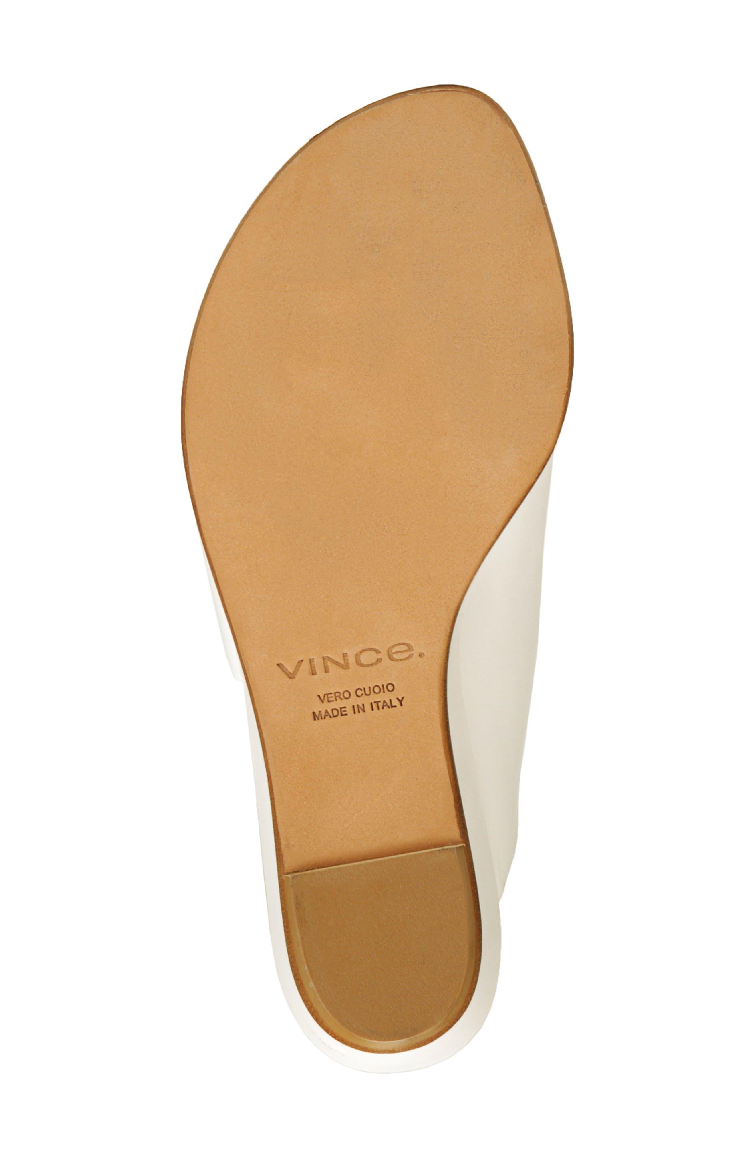 VINCE,                             Duvall Asymmetrical Wedge Sandal,                             Alternate thumbnail 6, color,                             OFF WHITE