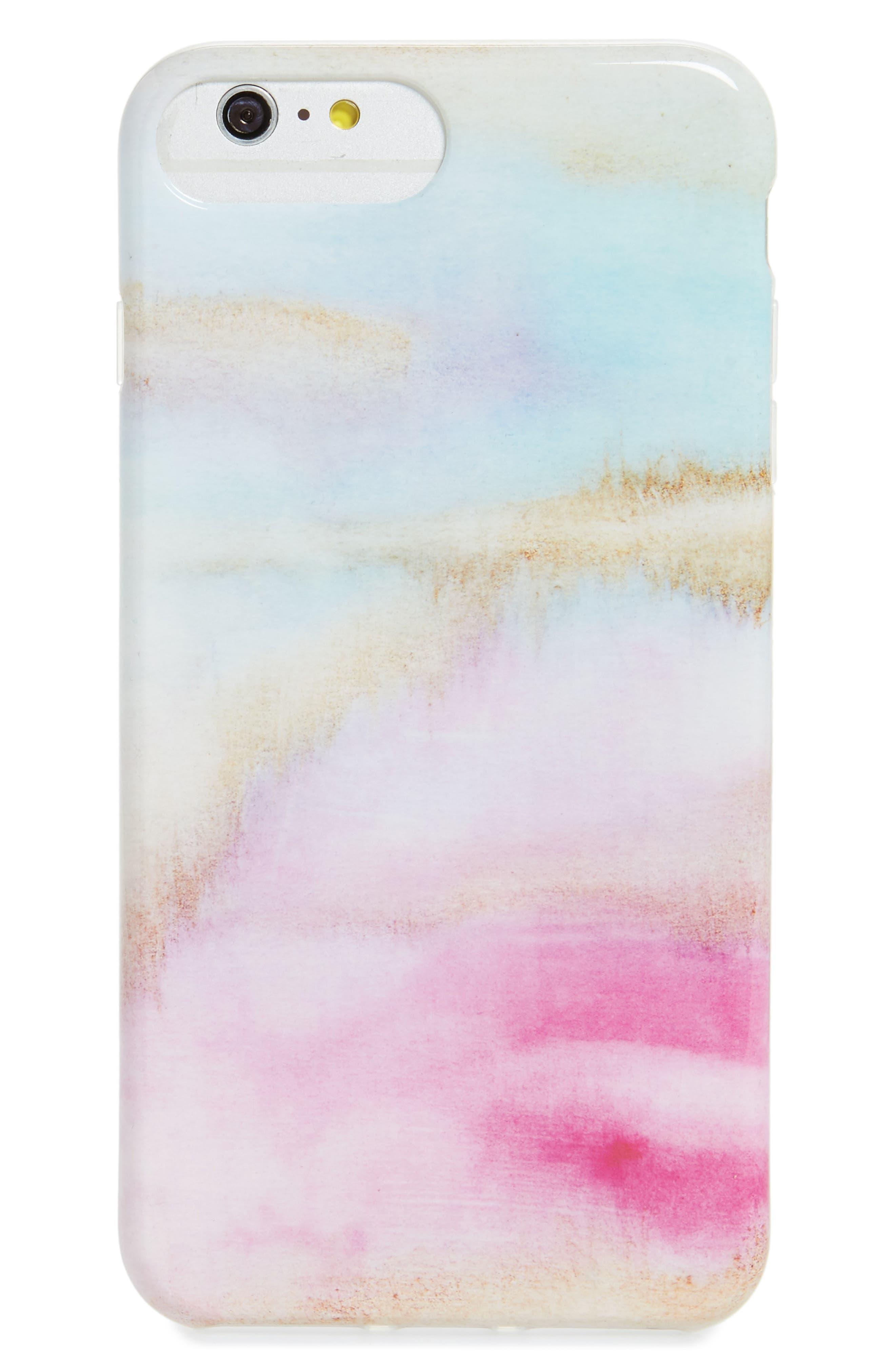 Watercolor iPhone 6/7/8 & 6/7/8 Plus Case,                             Main thumbnail 1, color,                             PASTEL MULTI