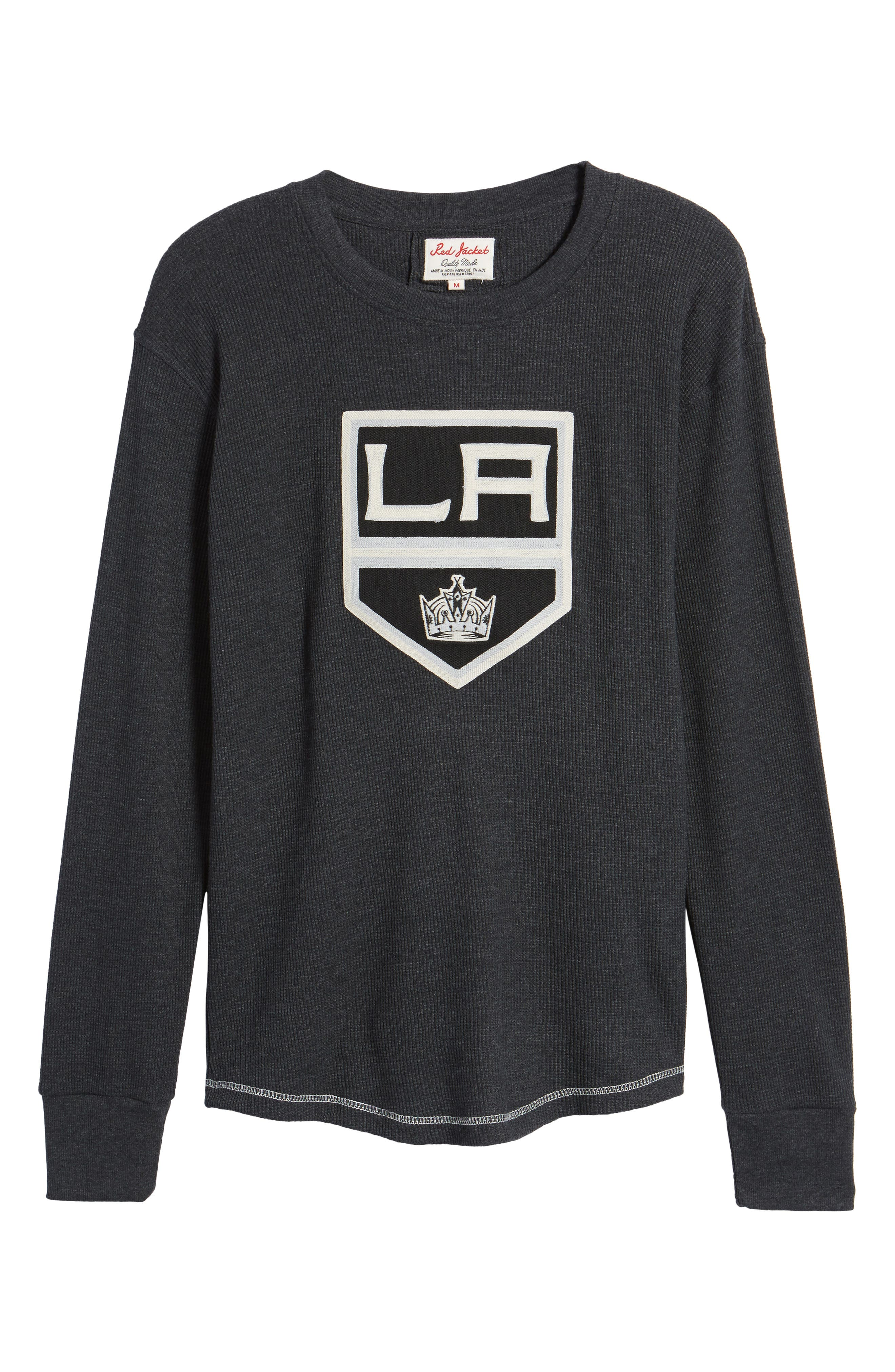 Los Angeles Kings Embroidered Long Sleeve Thermal Shirt,                             Alternate thumbnail 6, color,                             001