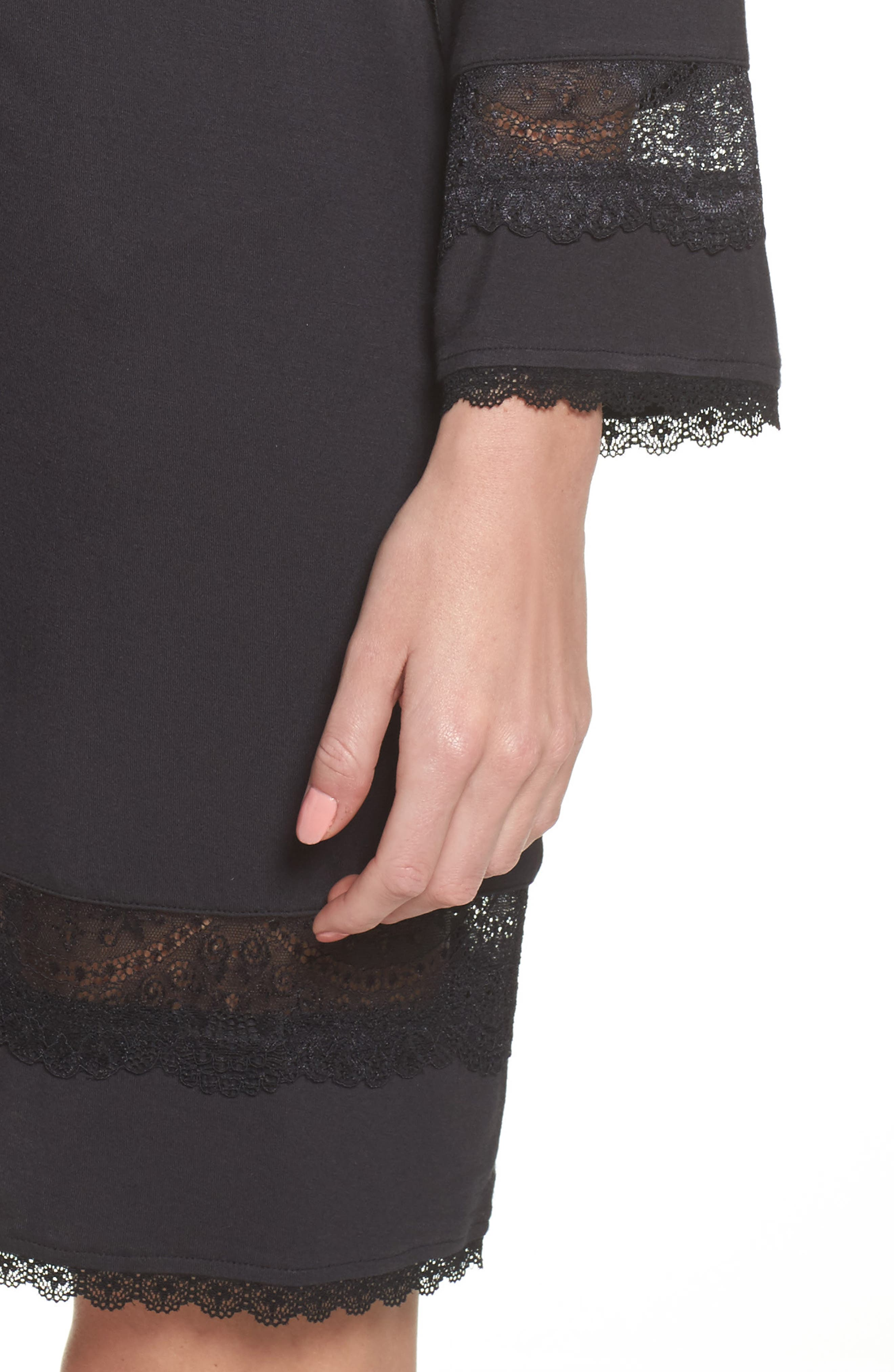 Cosima Embellished Robe,                             Alternate thumbnail 4, color,                             BLACK