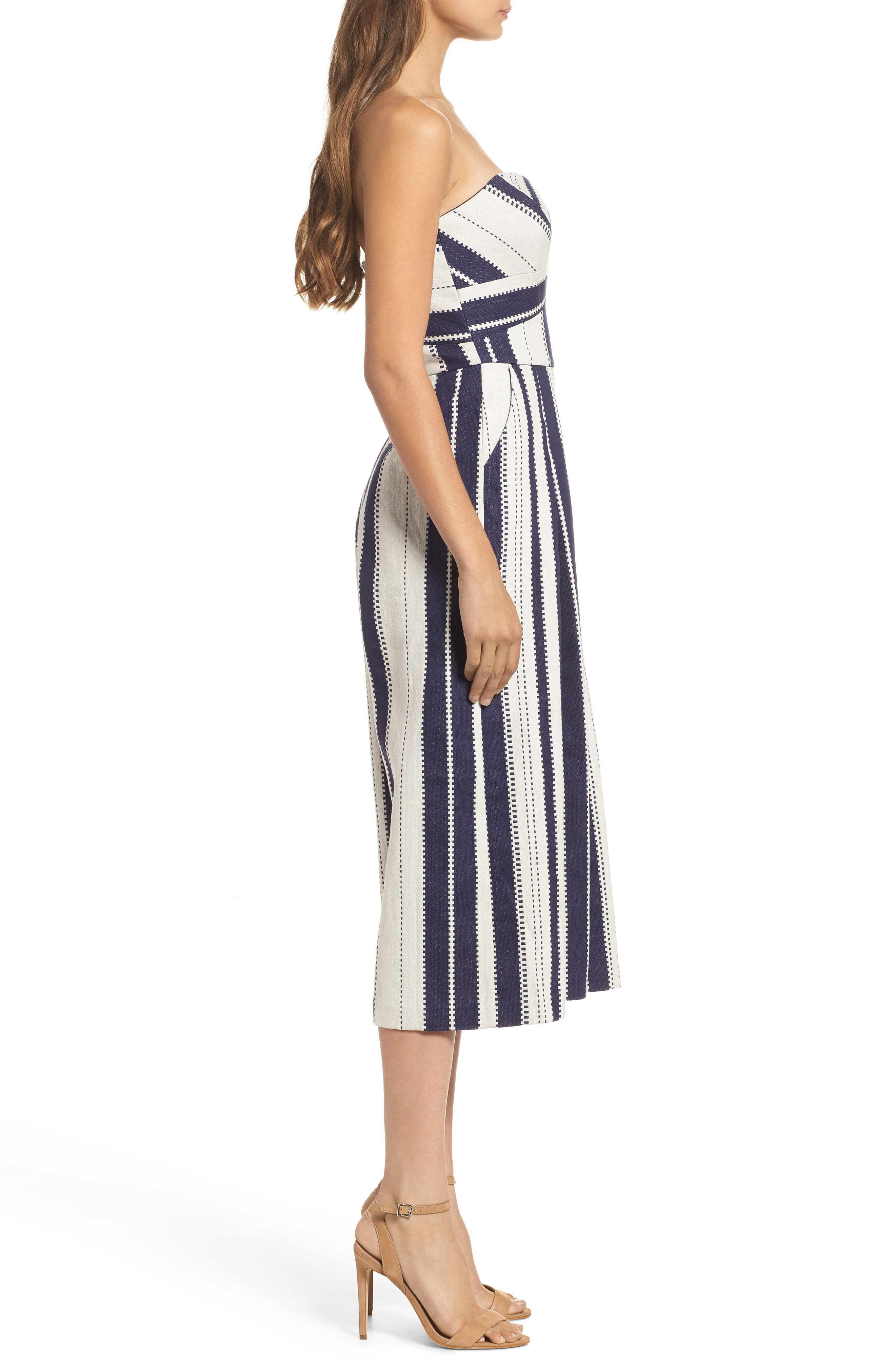 Justyna Strapless Jumpsuit,                             Alternate thumbnail 3, color,