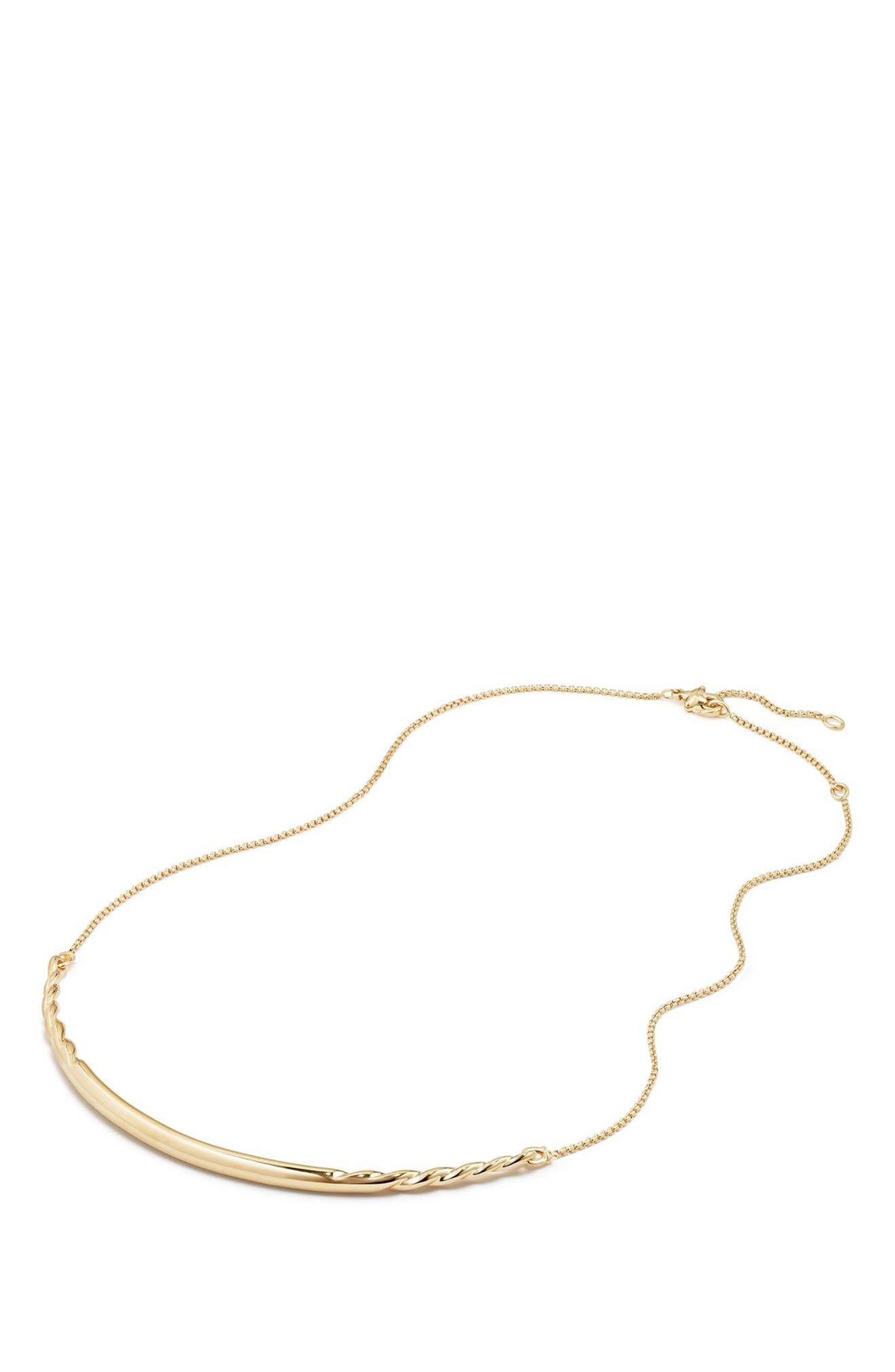 Pure Form Collar Necklace in 18K Gold,                             Alternate thumbnail 2, color,                             YELLOW GOLD