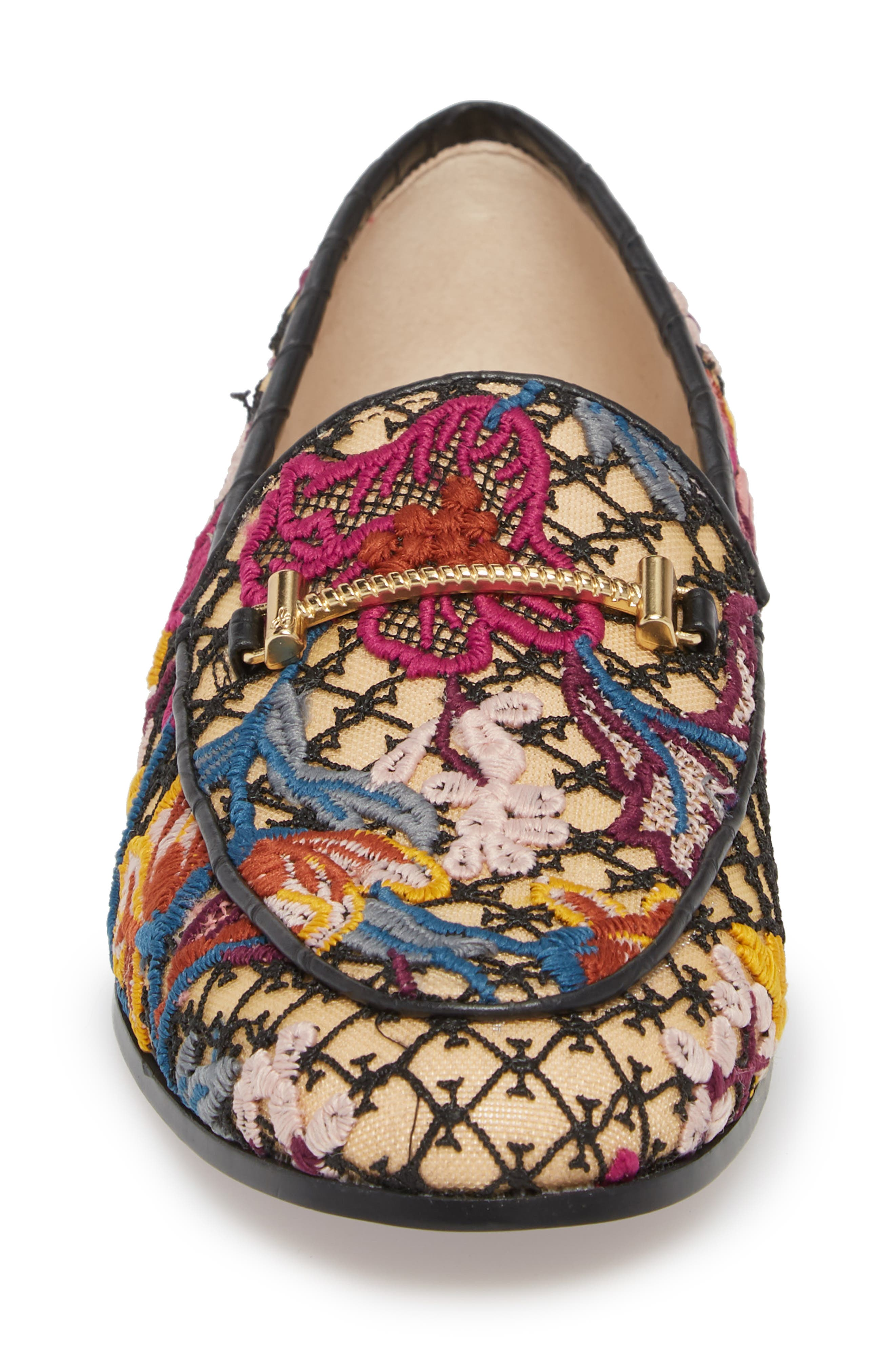Lior Loafer,                             Alternate thumbnail 4, color,                             BRIGHT MULTI FLORAL LACE