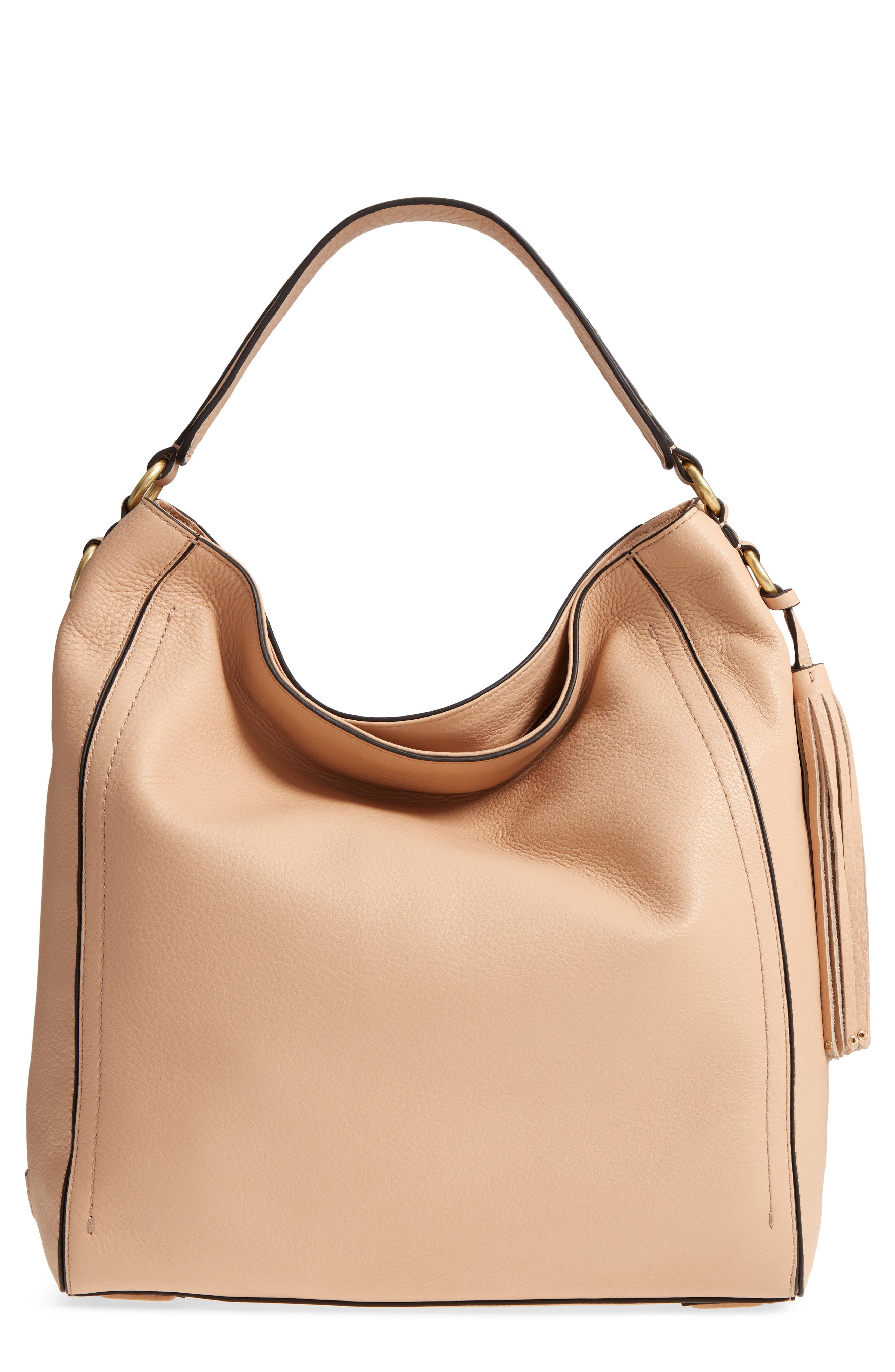 Cassidy RFID Pebbled Leather Bucket Bag,                             Main thumbnail 3, color,