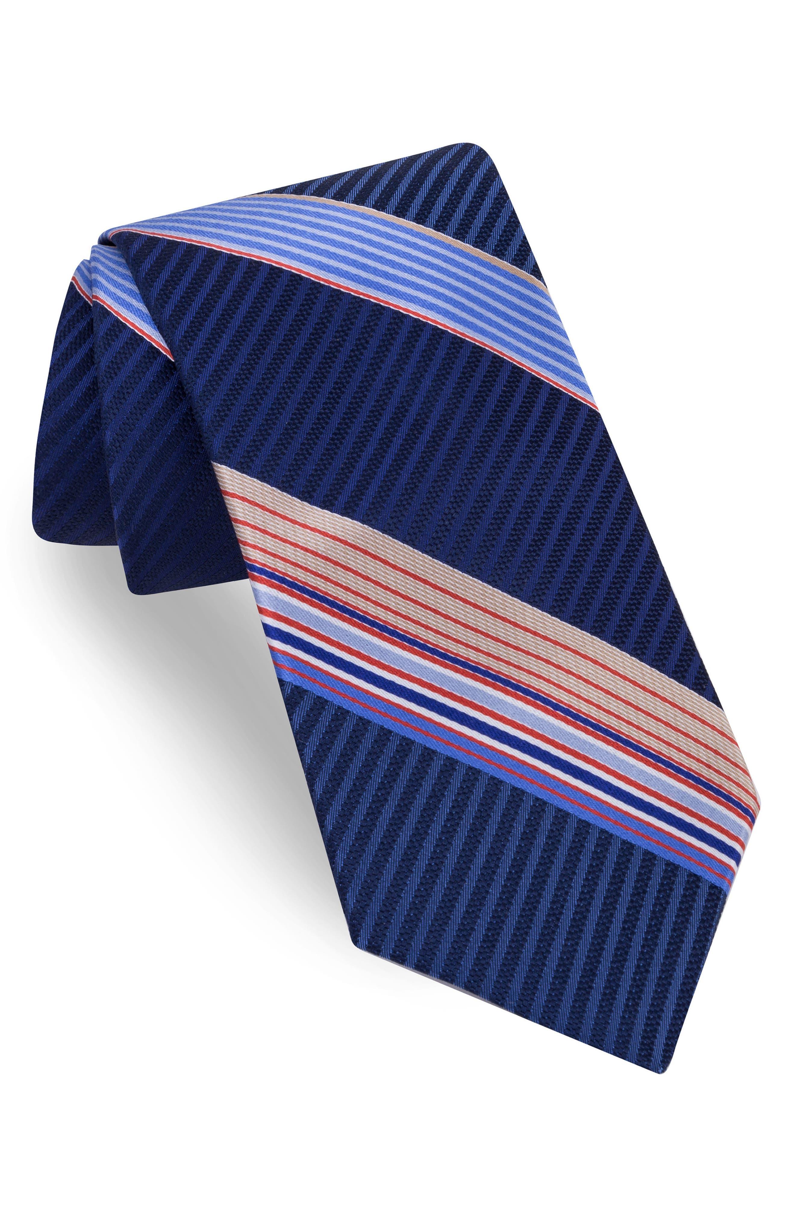 Aventura Stripe Silk Tie,                             Main thumbnail 3, color,