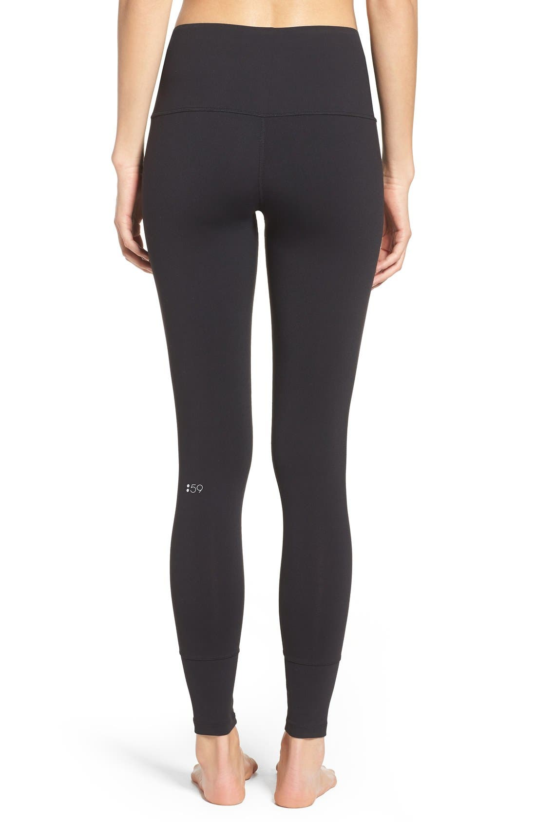 'Bardot' High Waist Leggings,                             Alternate thumbnail 6, color,                             001