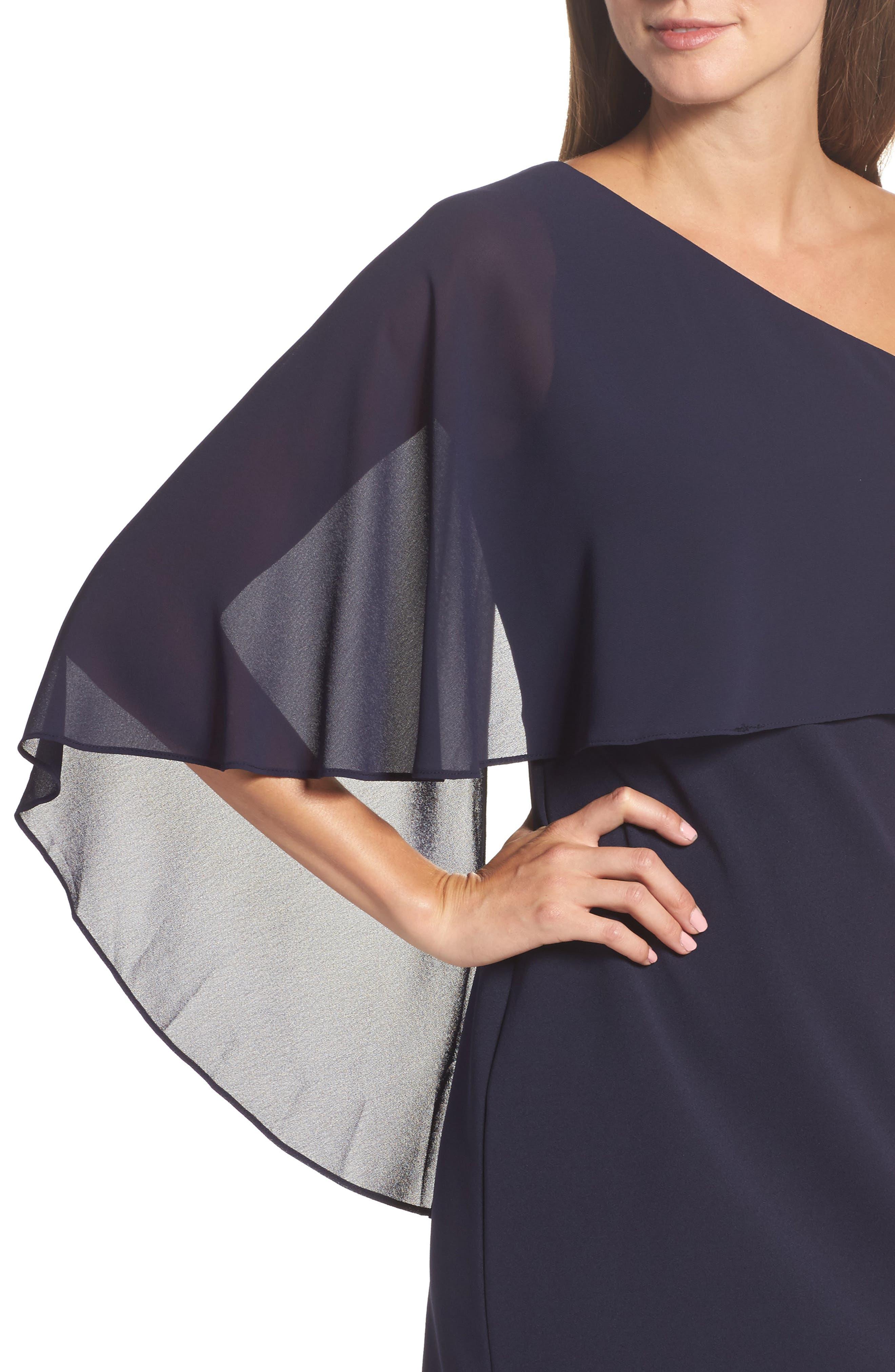One-Shoulder Sheath Dress,                             Alternate thumbnail 4, color,