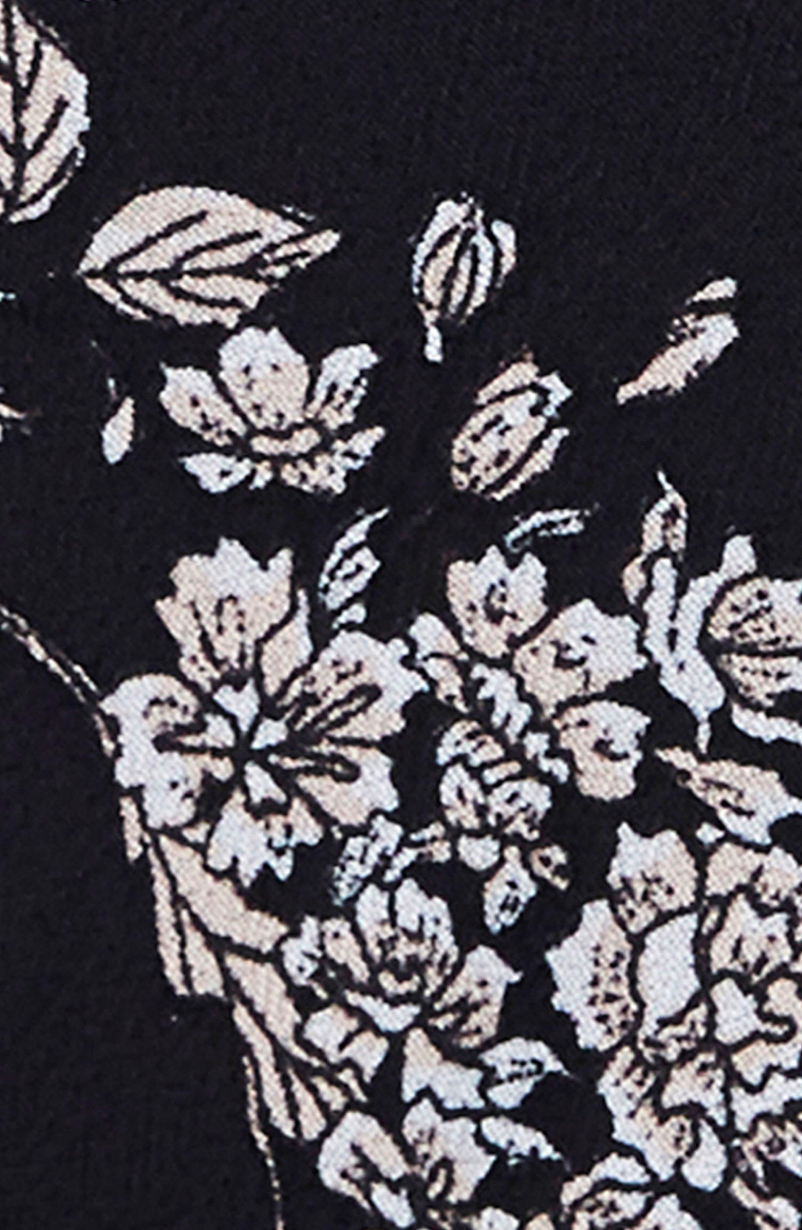 Sloan Choker Neck Midi Slipdress,                             Alternate thumbnail 4, color,                             001