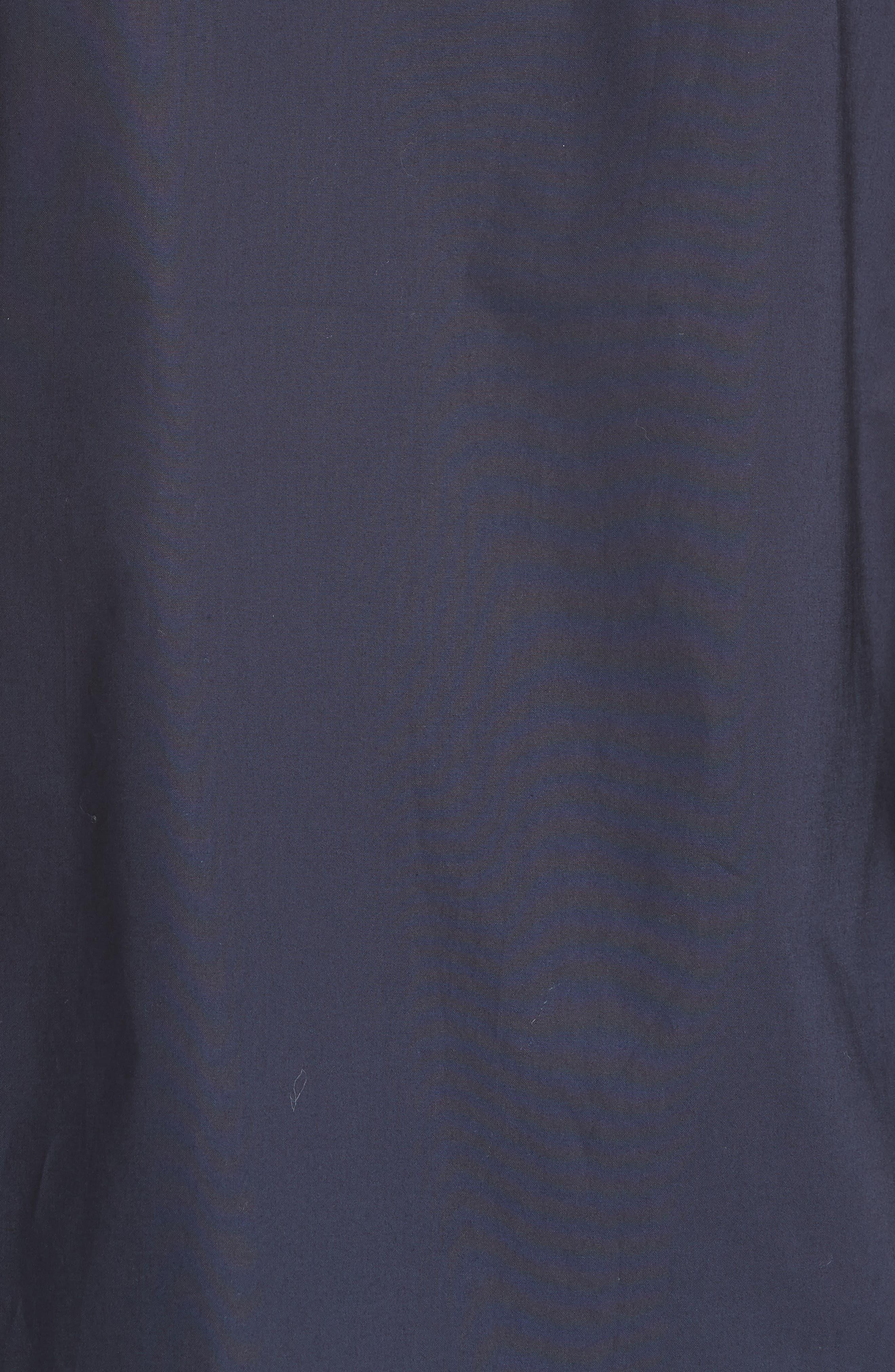 flutter sleeve button down cotton blouse,                             Alternate thumbnail 5, color,