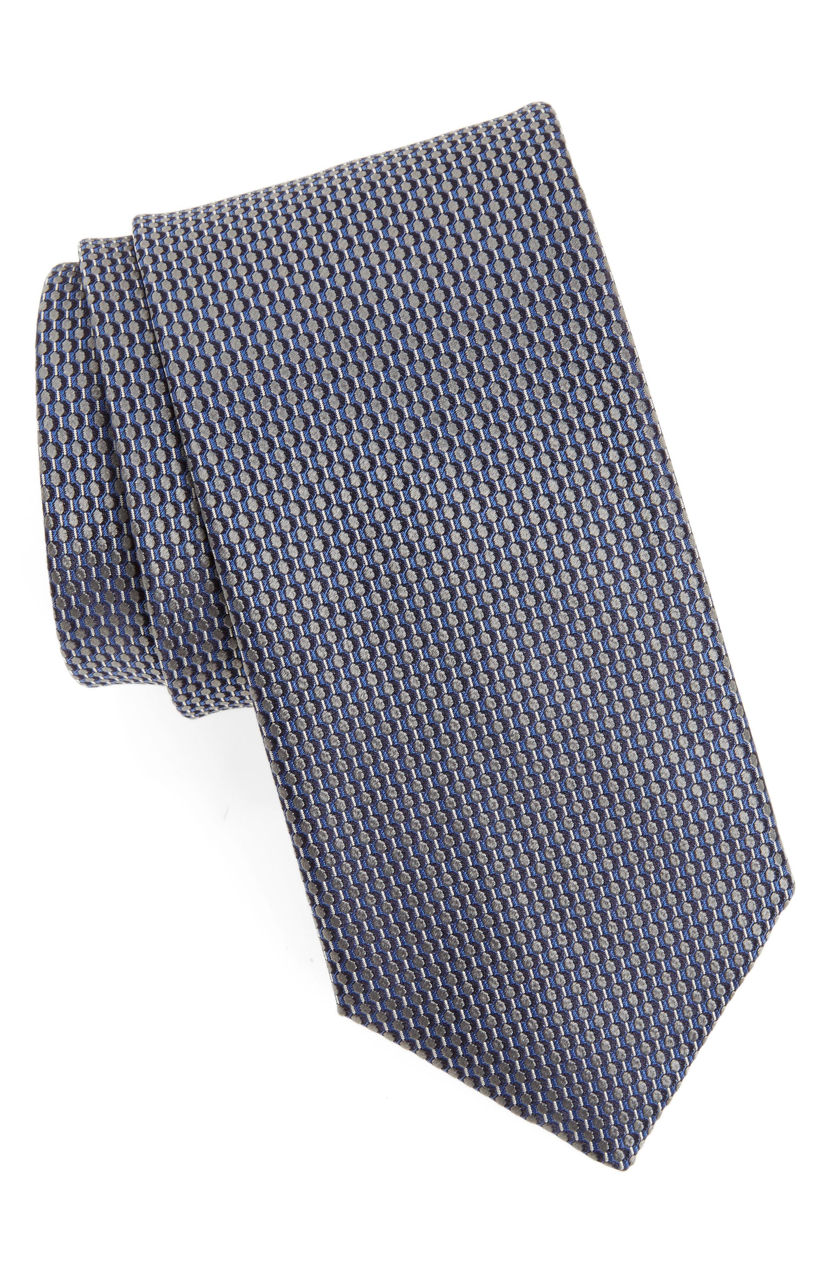 Geometric Silk Tie,                         Main,                         color, 020