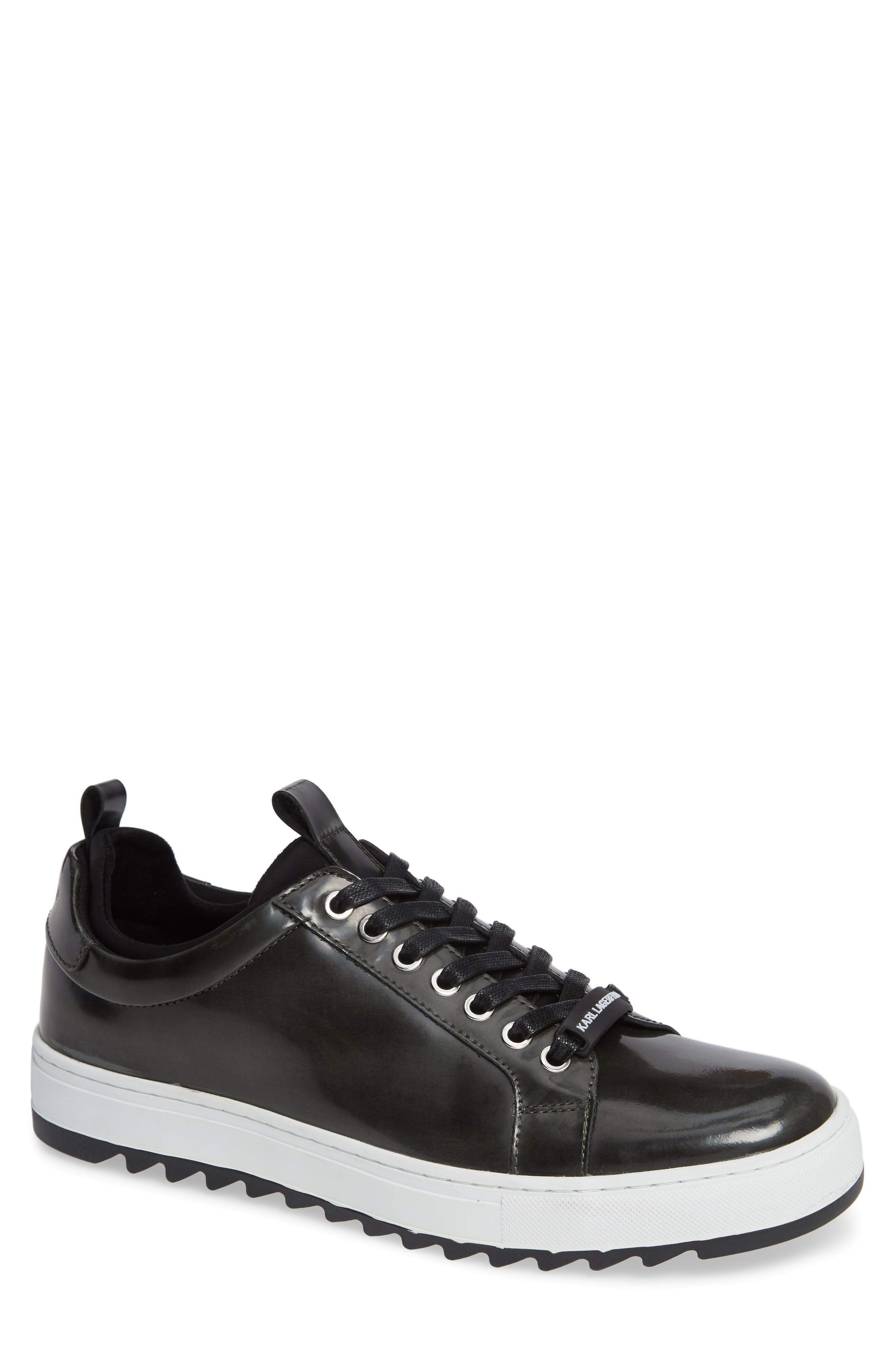 Box Inner Sock Sneaker,                             Main thumbnail 1, color,                             DARK GREY