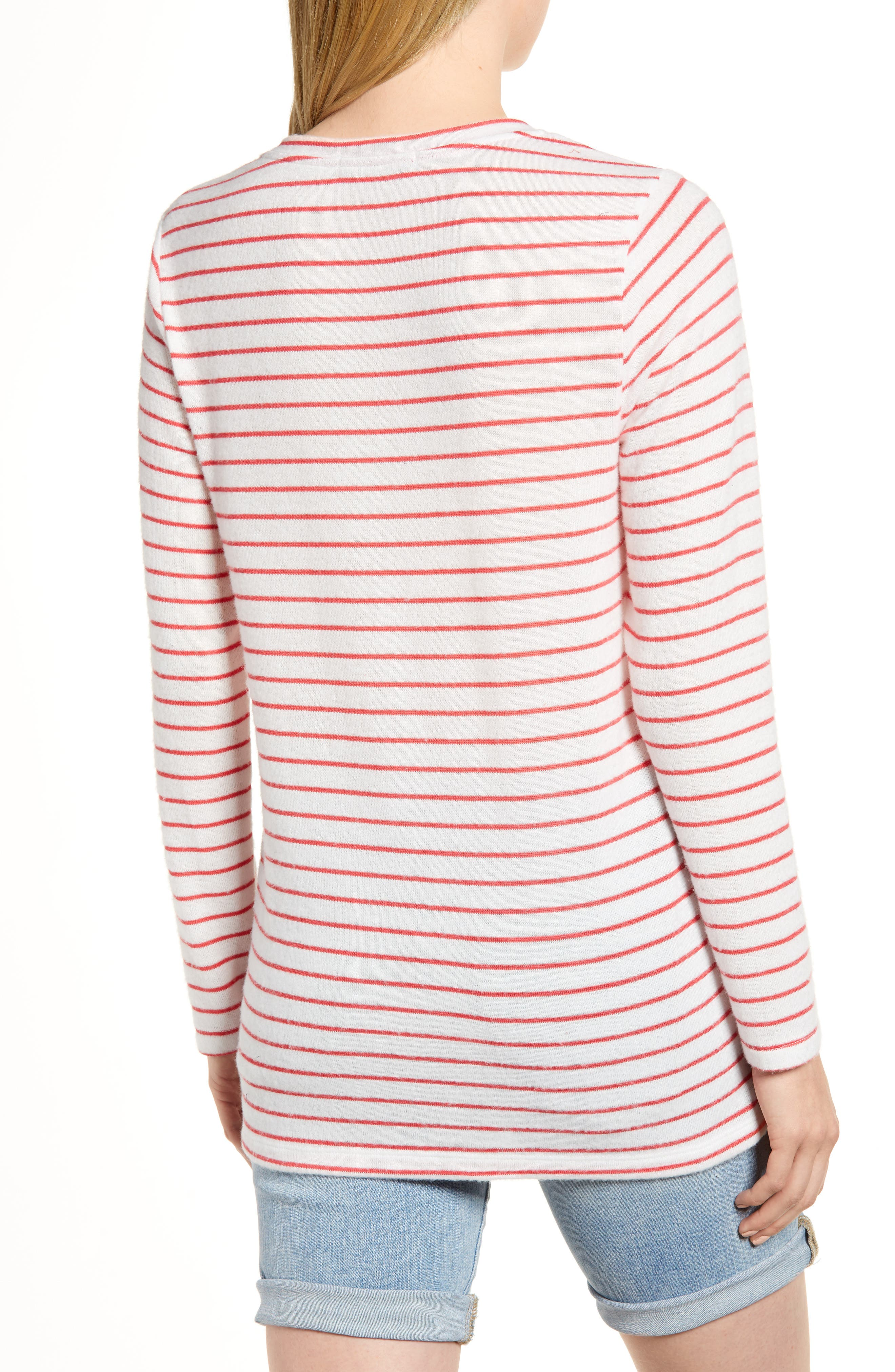 x Living in Yellow Steph Cozy Stripe Top,                             Alternate thumbnail 4, color,