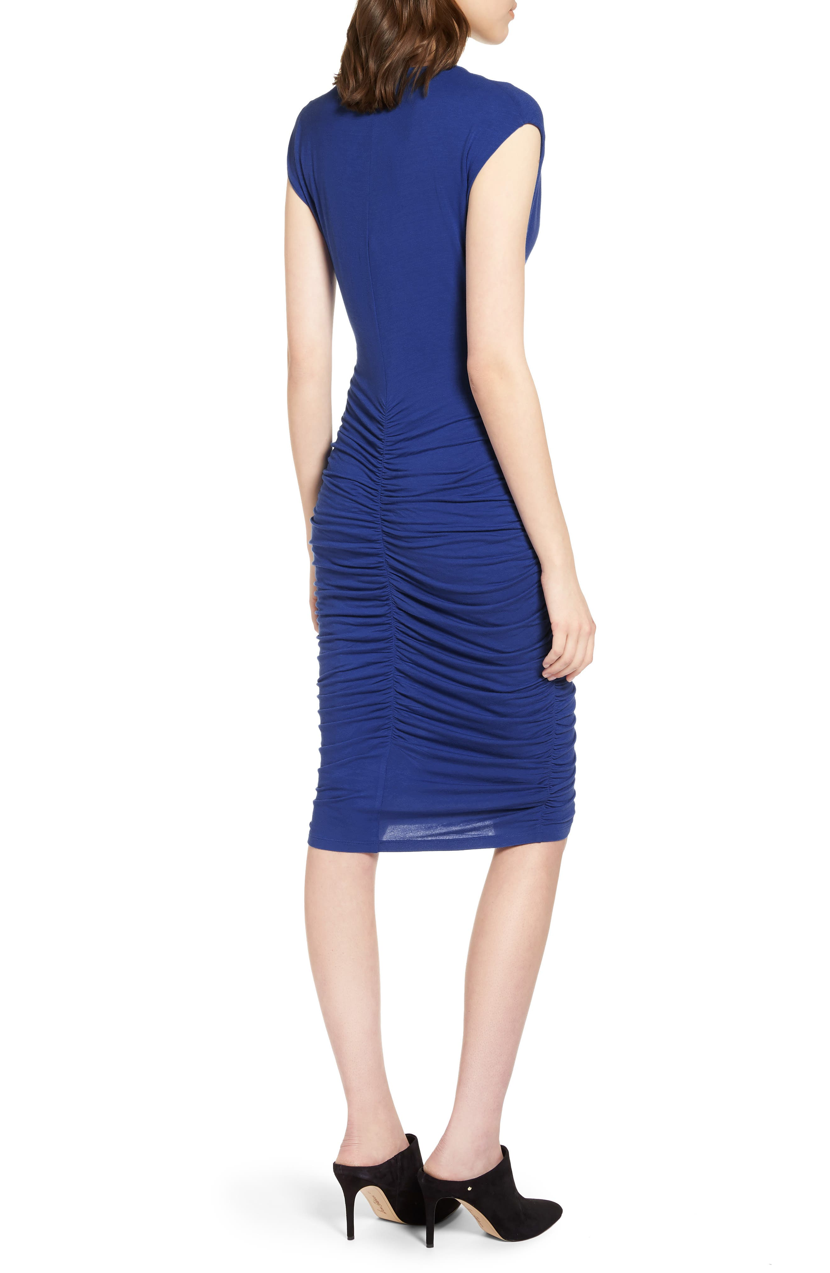 Ruched Detail Sheath Dress,                             Alternate thumbnail 5, color,