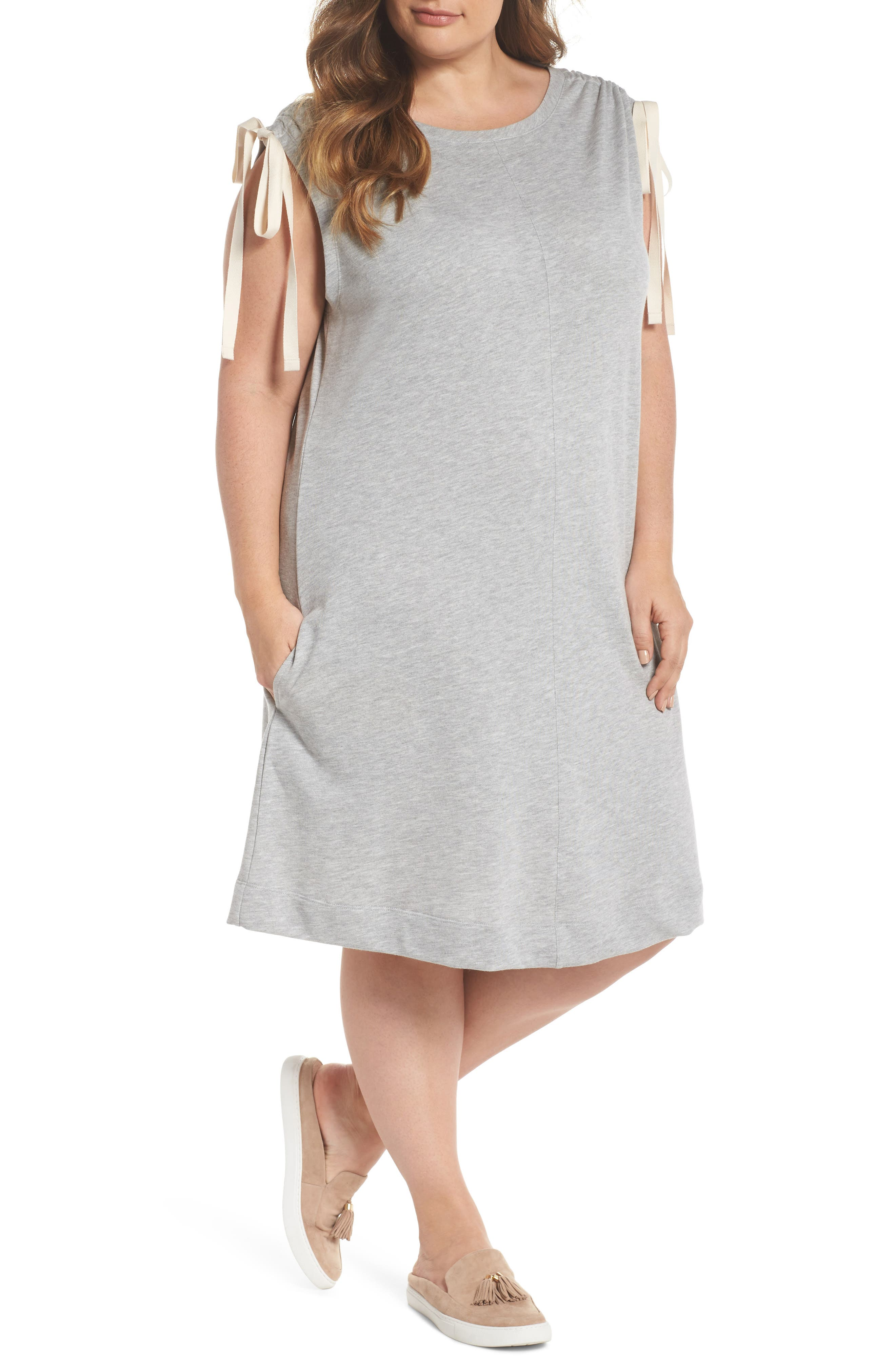 Ruched Shoulder Shift Dress,                         Main,                         color, 030