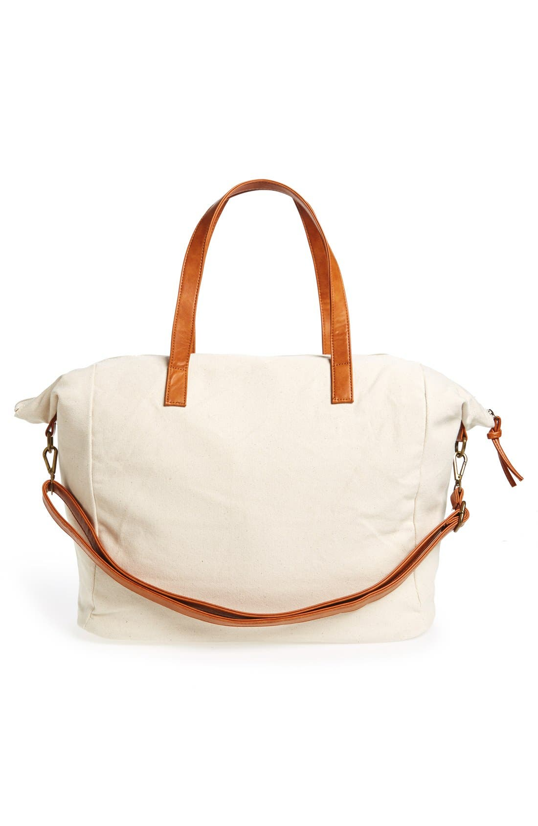 NU-G,                             Slouchy Canvas Overnighter Bag,                             Alternate thumbnail 6, color,                             200