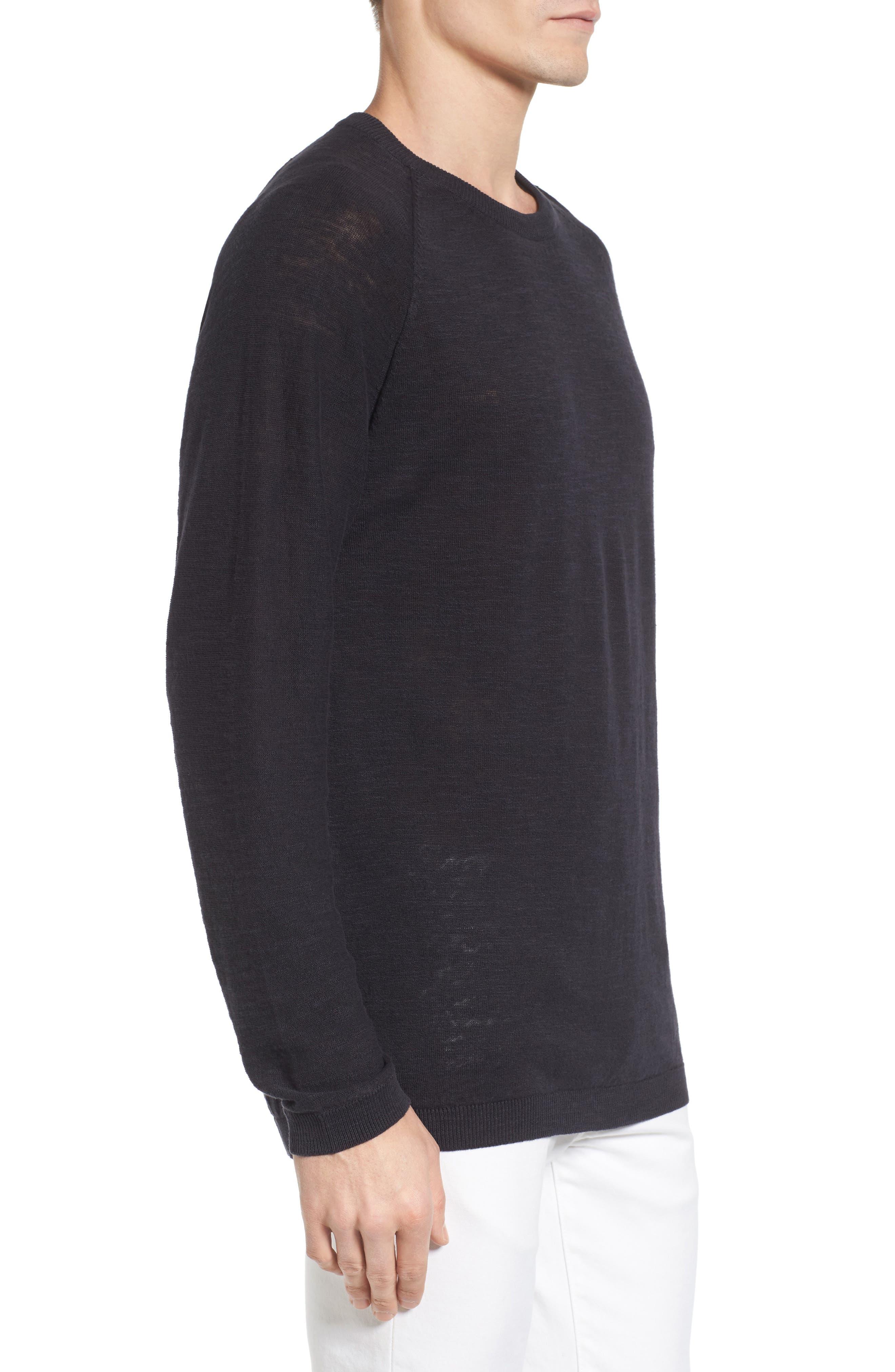 Arambol Cotton & Linen Sweater,                             Alternate thumbnail 3, color,                             409