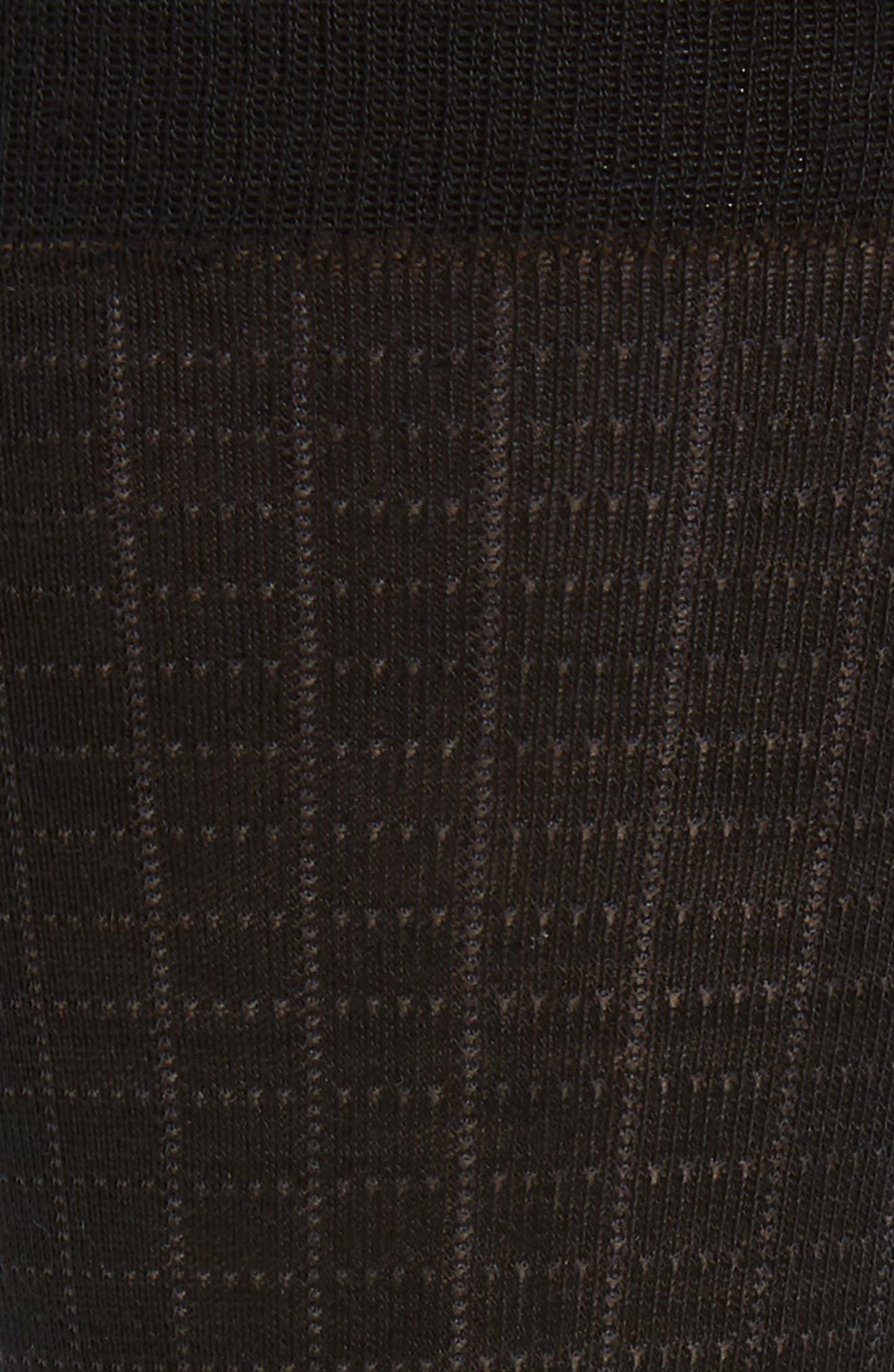 Mini Spiral Grid Socks,                             Alternate thumbnail 2, color,                             BLACK