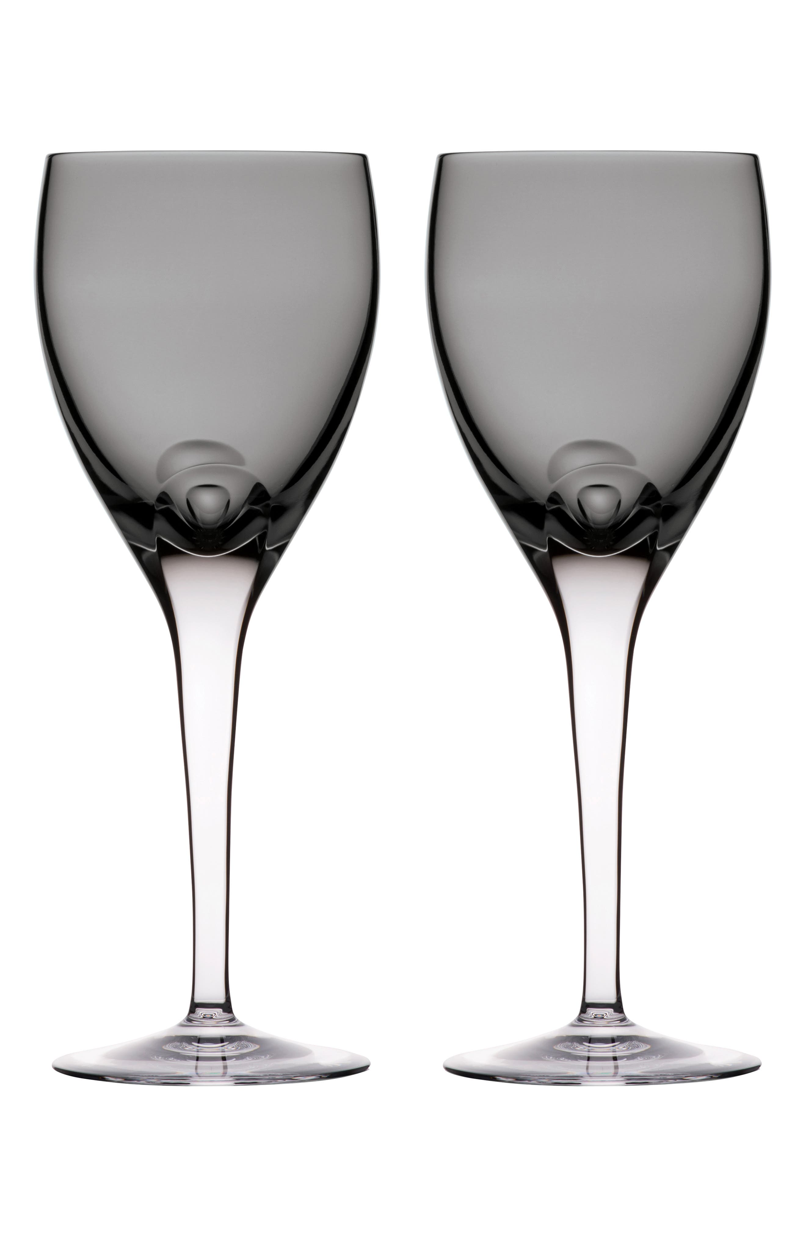 W Set of 2 Lead Crystal Wine Glasses,                             Main thumbnail 1, color,                             SHALE