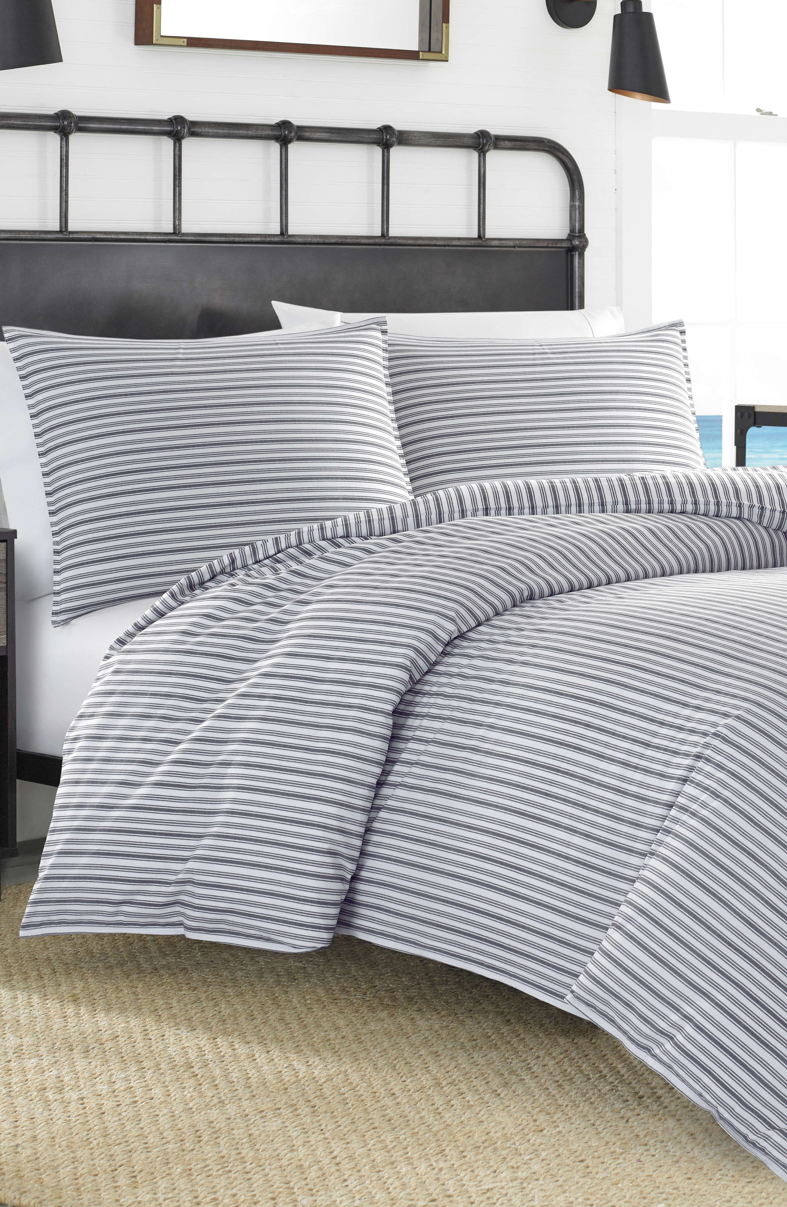 NAUTICA,                             Coleridge Stripe Duvet Cover & Sham Set,                             Main thumbnail 1, color,                             060