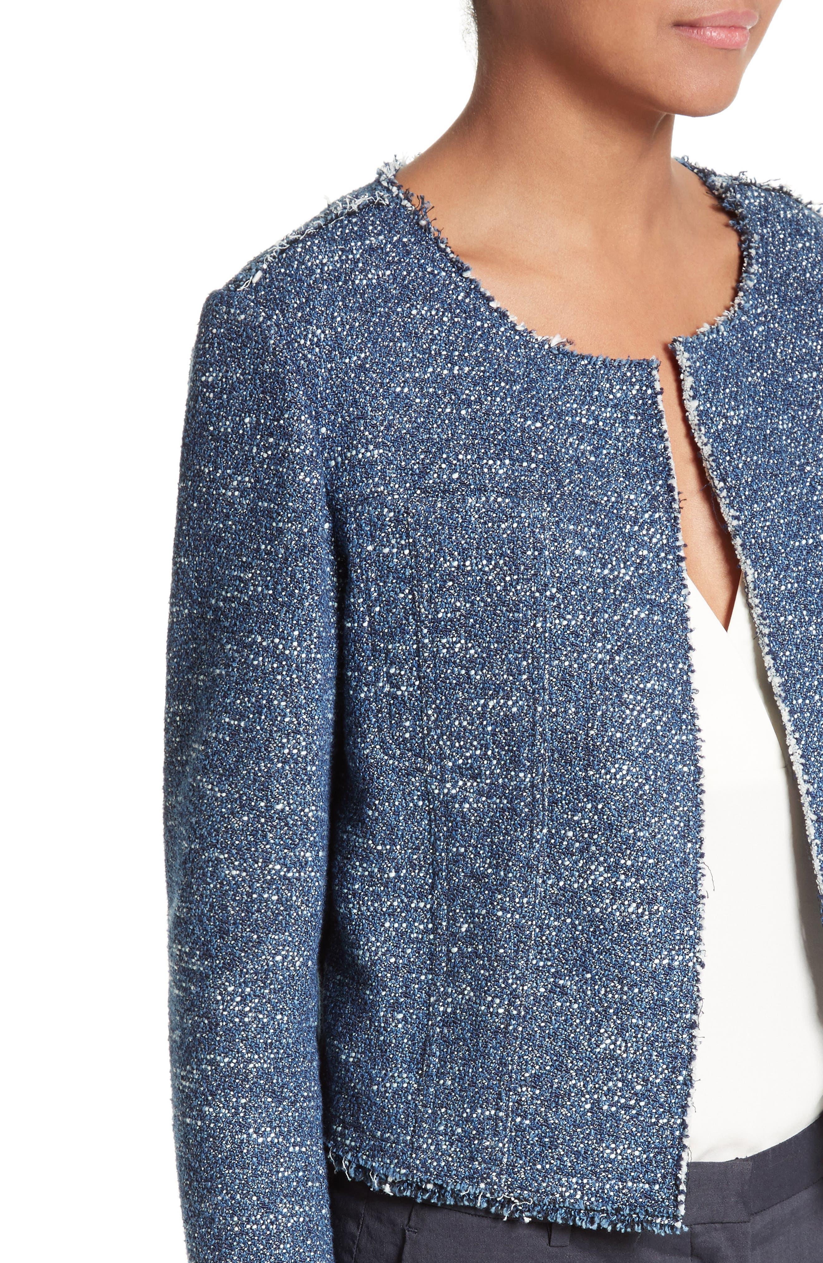 Ualana Indigo Tweed Jacket,                             Alternate thumbnail 3, color,                             498