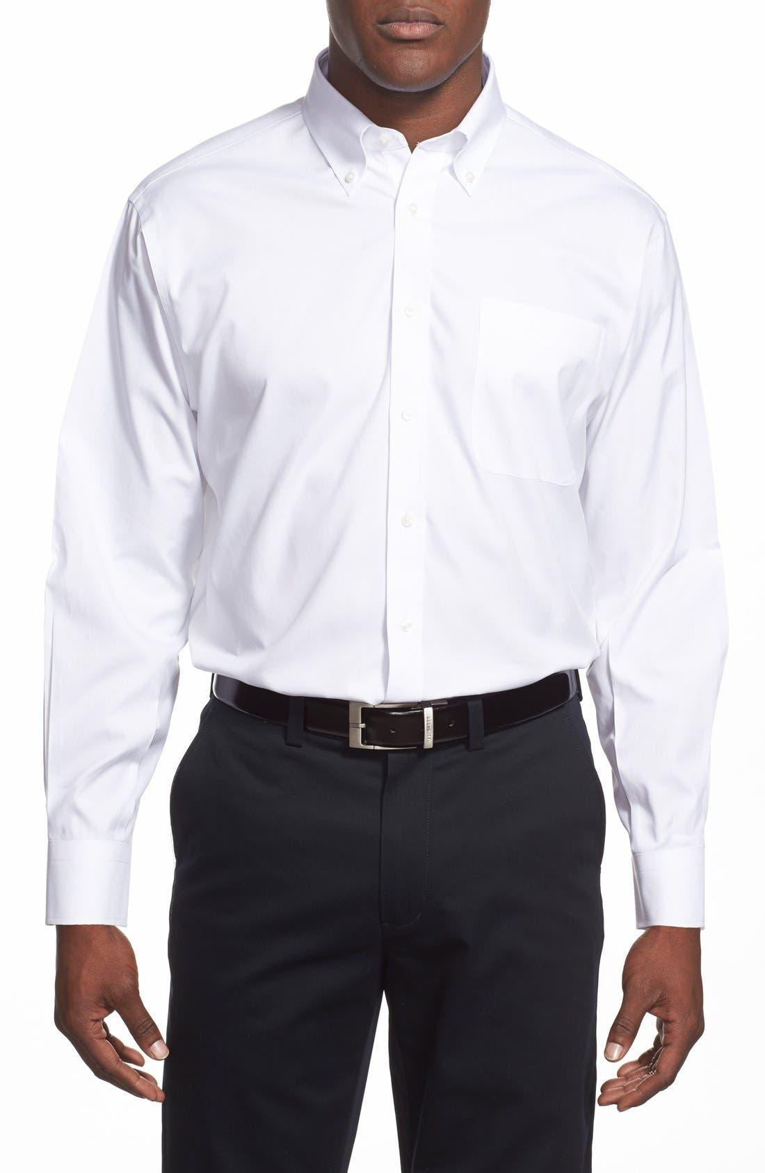 Smartcare<sup>™</sup> Classic Fit Pinpoint Dress Shirt,                             Alternate thumbnail 3, color,                             WHITE