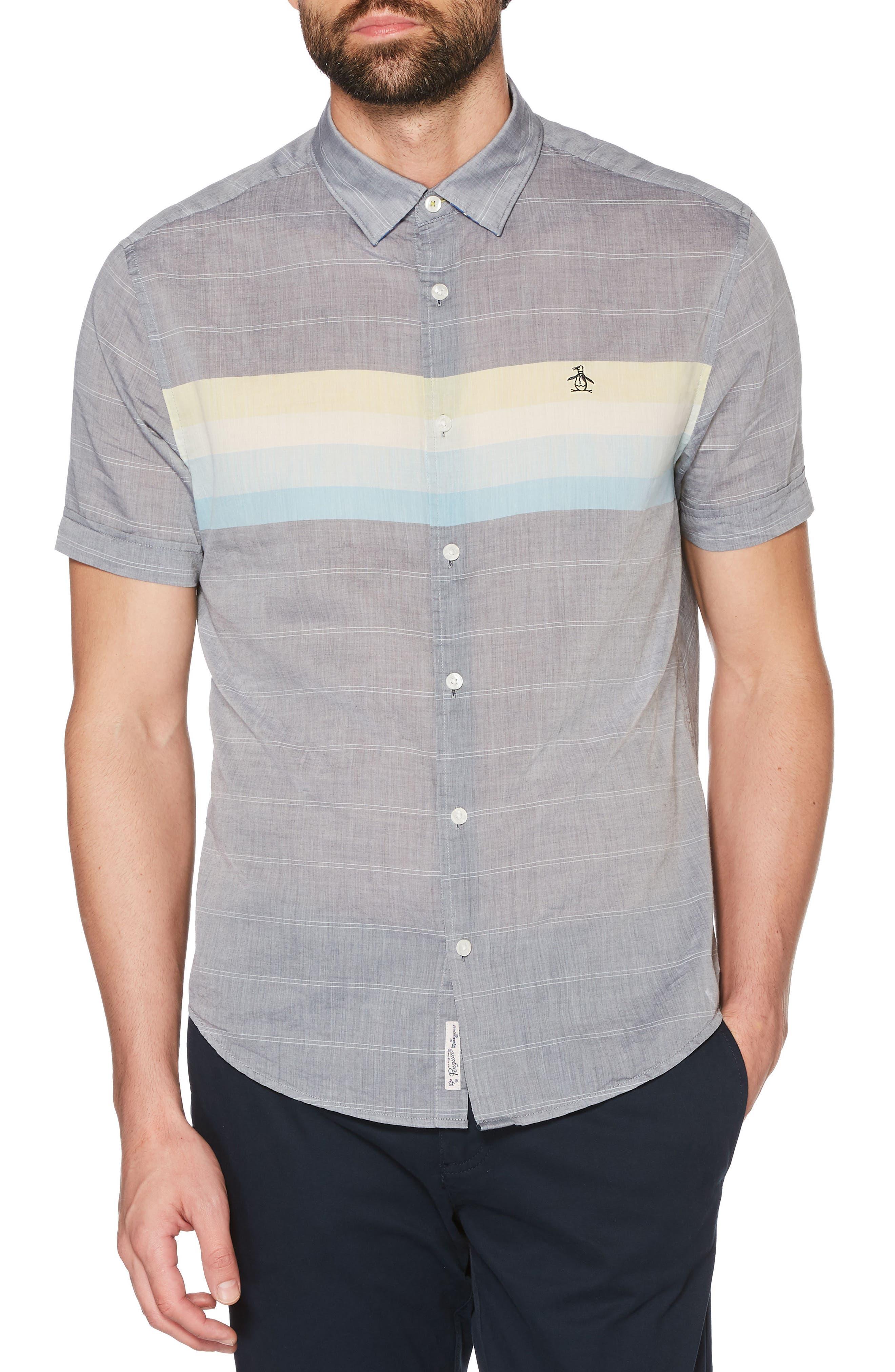 Engineered Stripe Shirt,                             Main thumbnail 2, color,
