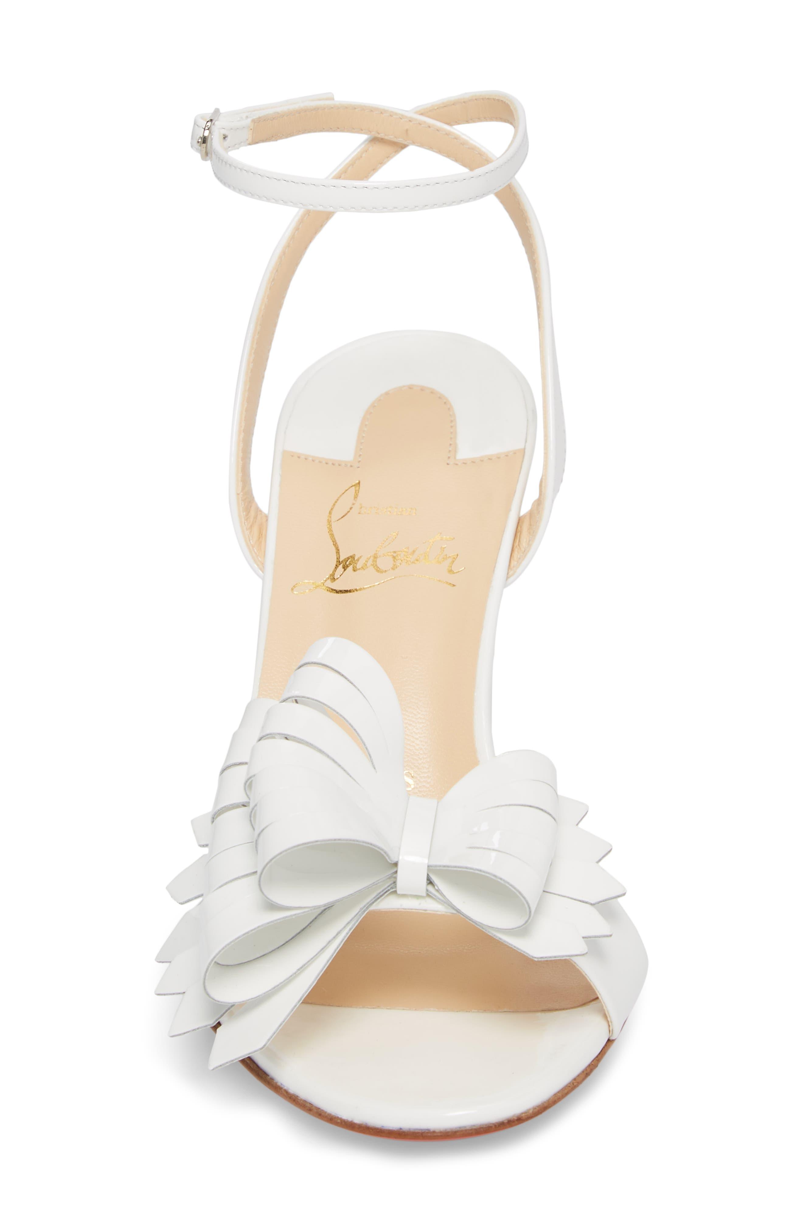 Miss Valois Bow Ankle Strap Sandal,                             Alternate thumbnail 8, color,