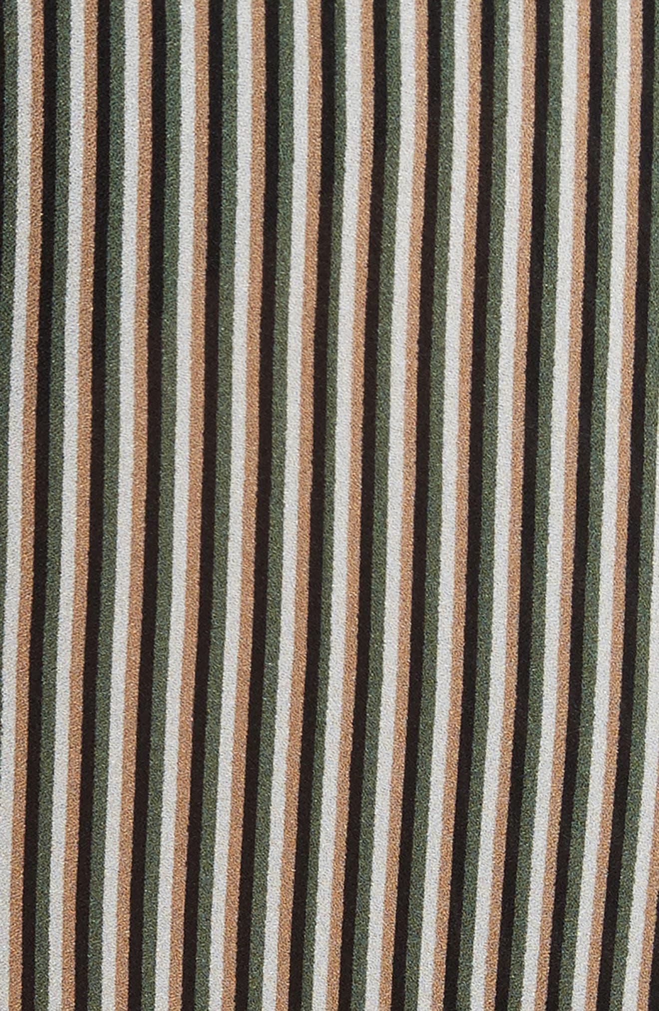 Cannon Stripe Silk Dress,                             Alternate thumbnail 5, color,                             101