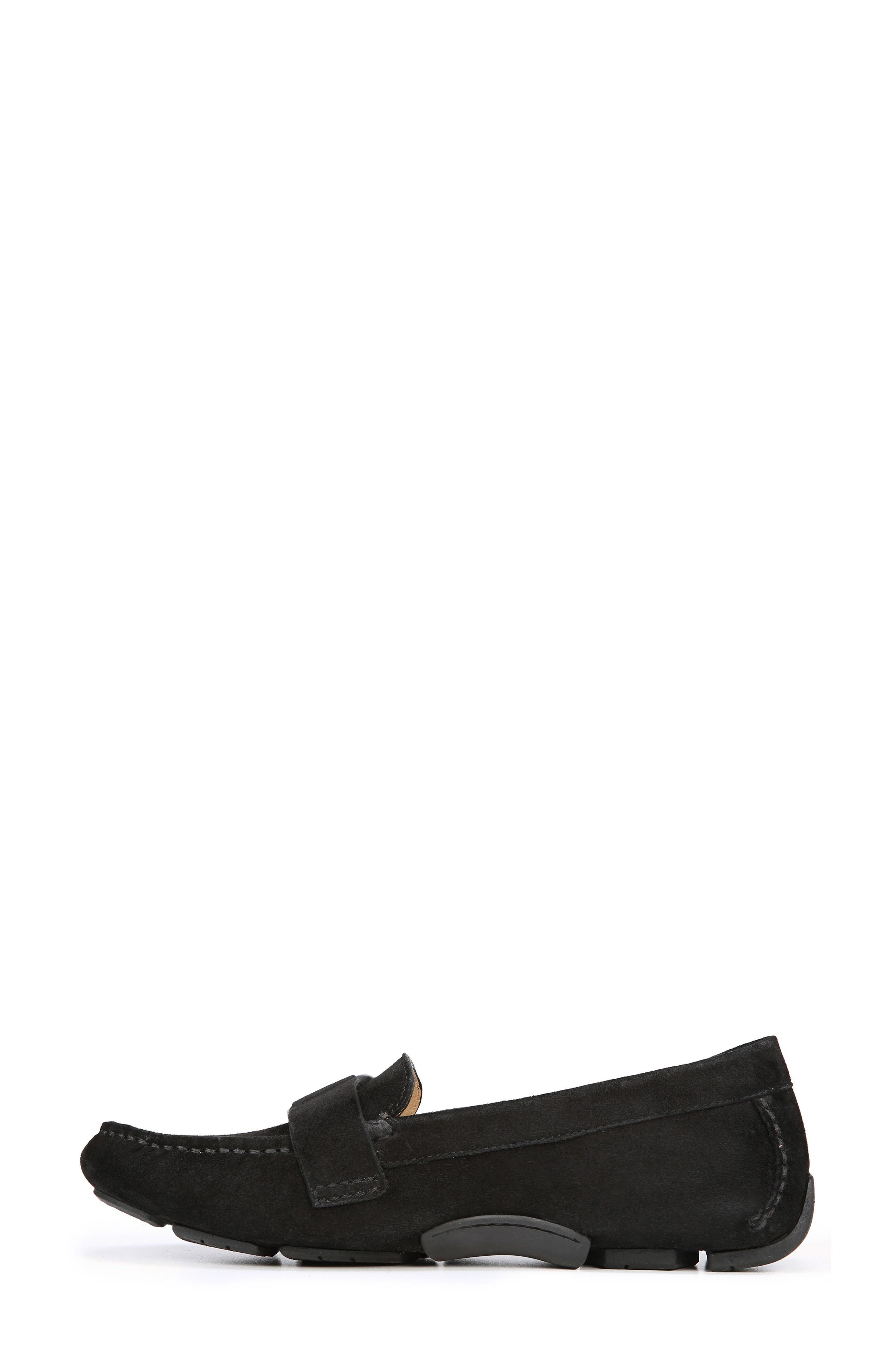 Nara Loafer,                             Alternate thumbnail 8, color,                             BLACK SUEDE