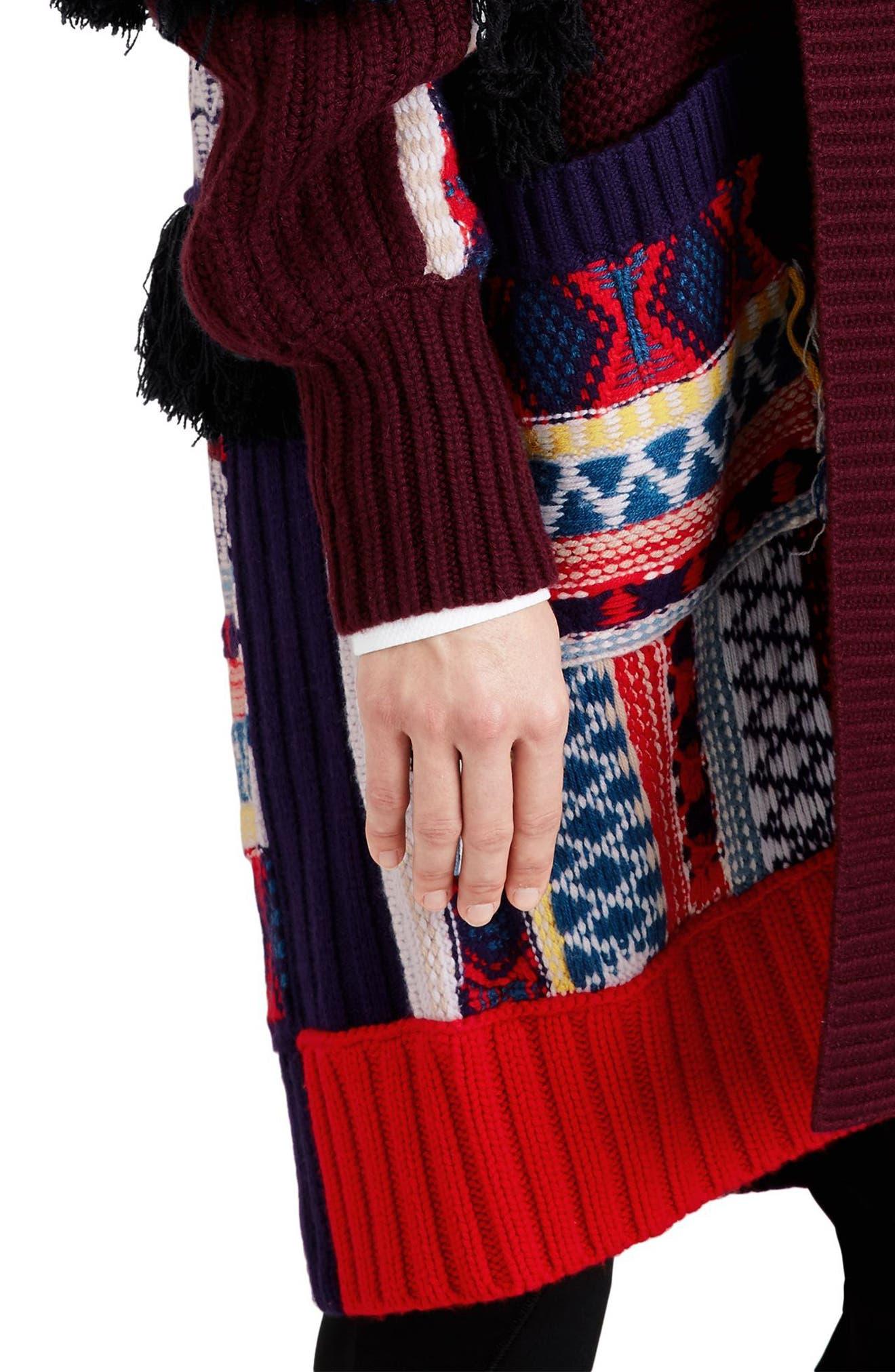Rotaldo Wool & Cashmere Patchwork Cardigan,                             Alternate thumbnail 4, color,                             103