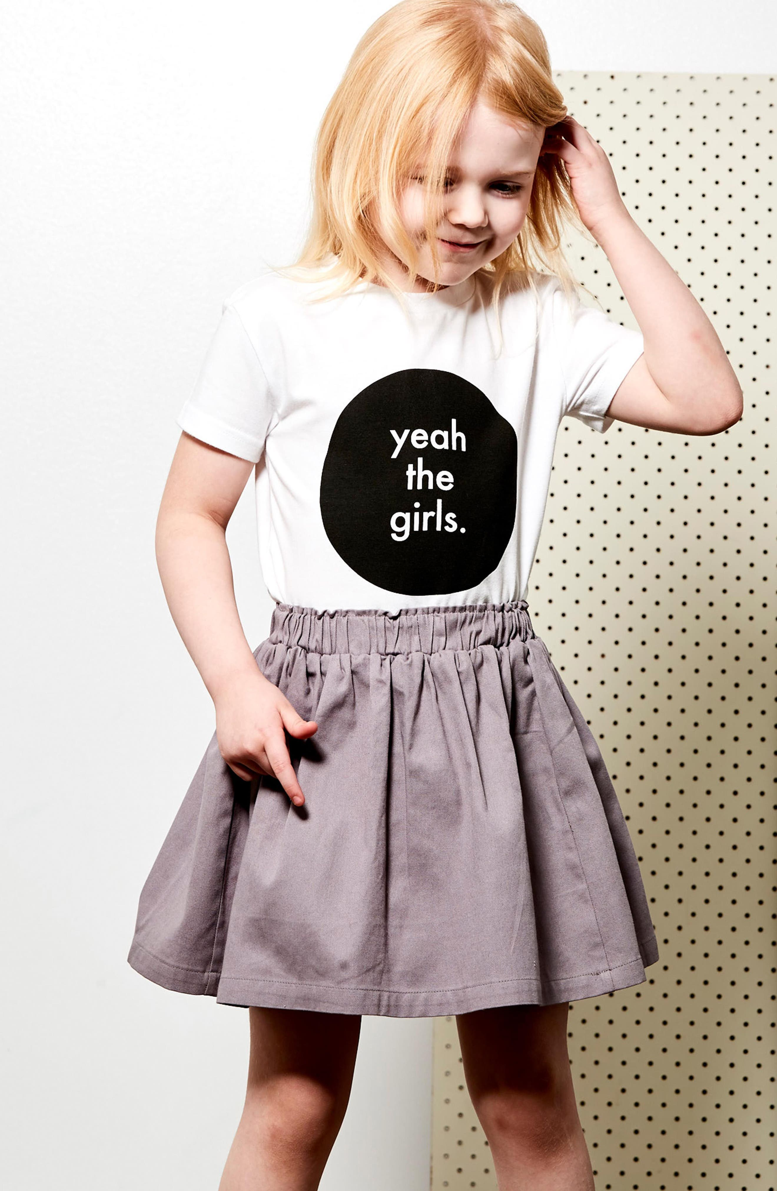 Yeah the Girls Tee & Skirt Set,                             Alternate thumbnail 3, color,                             109