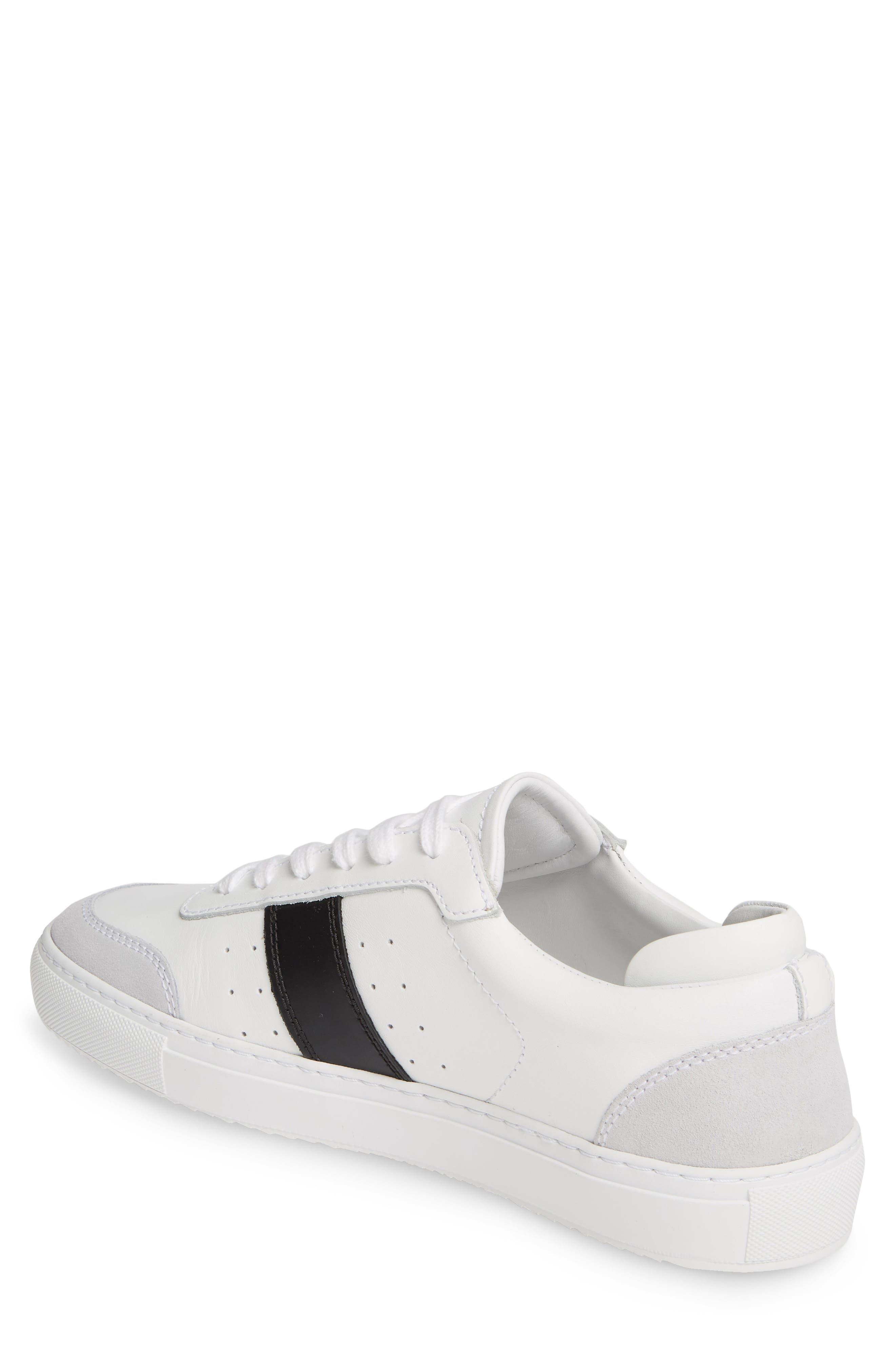 AXEL ARIGATO,                             Dunk Sneaker,                             Alternate thumbnail 2, color,                             WHITE W/ BLACK STRIPE