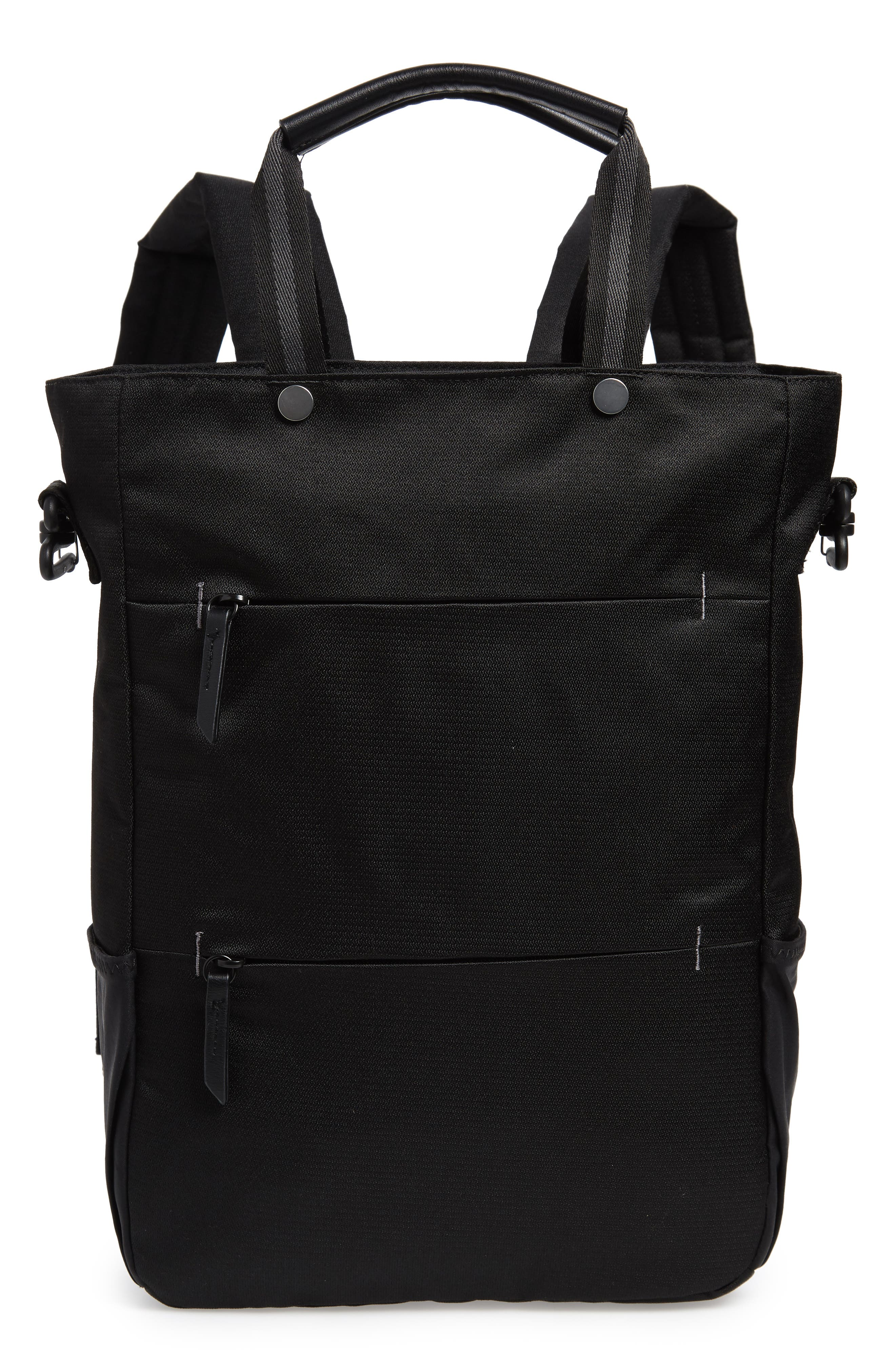 Camden RFID Convertible Backpack,                         Main,                         color, BLACK/ BLACK