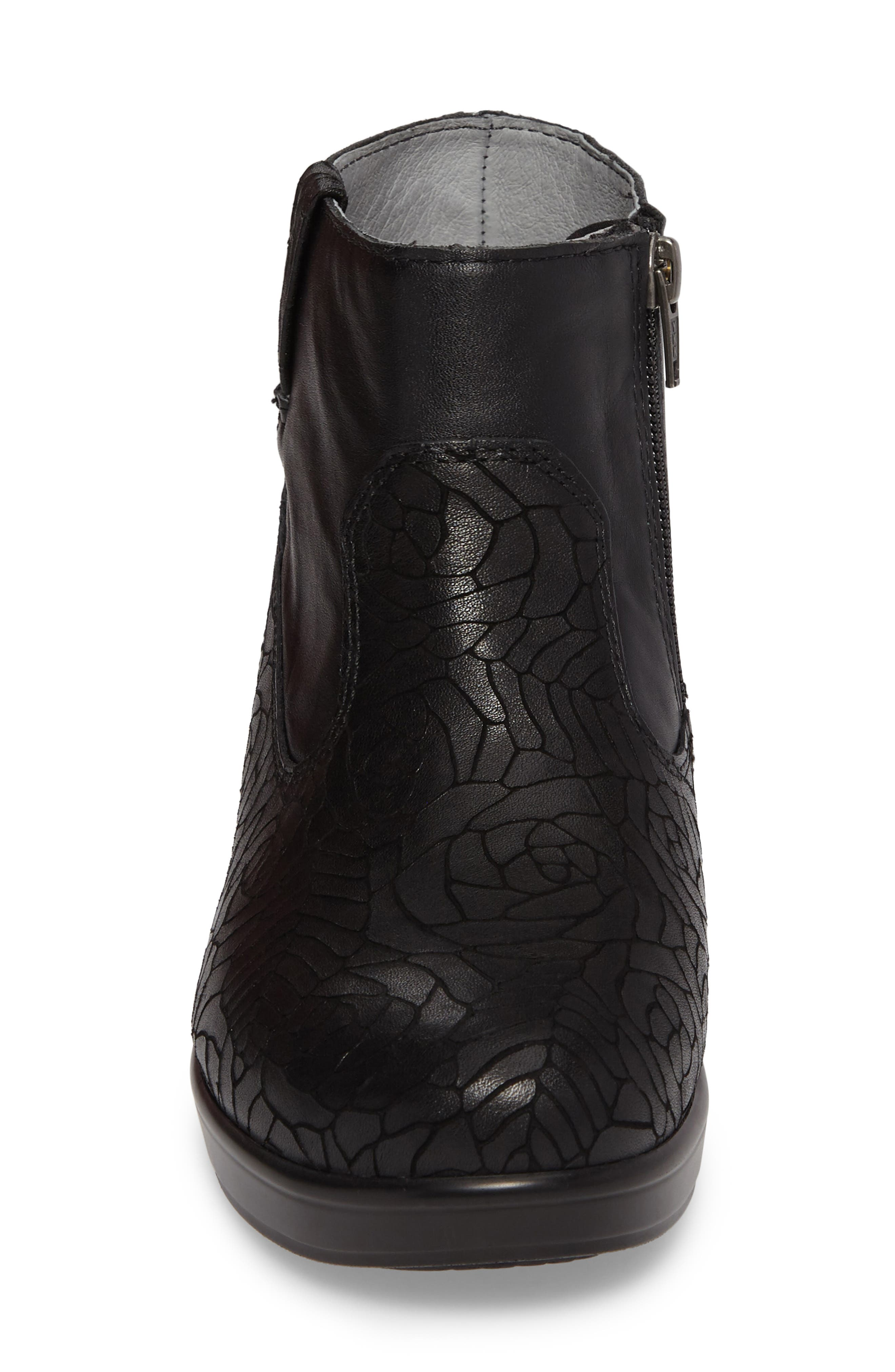 Hayden Bootie,                             Alternate thumbnail 4, color,                             FLORAL NOTES LEATHER