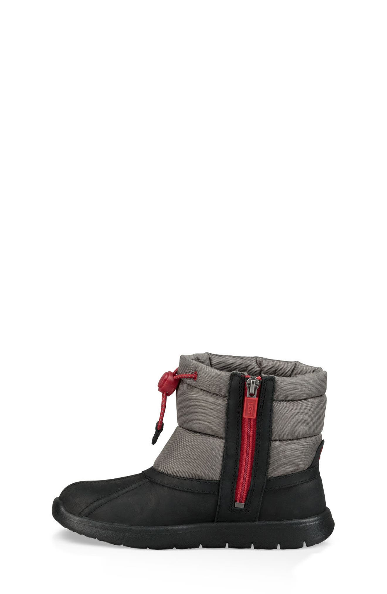Puffer Winter Boot,                             Alternate thumbnail 6, color,                             BLACK