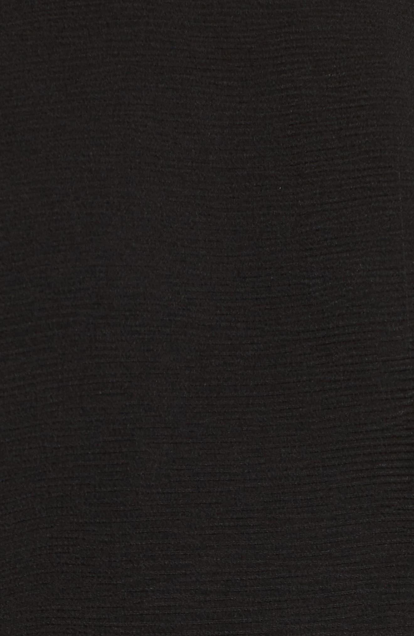 Barre Dress,                             Alternate thumbnail 5, color,                             001