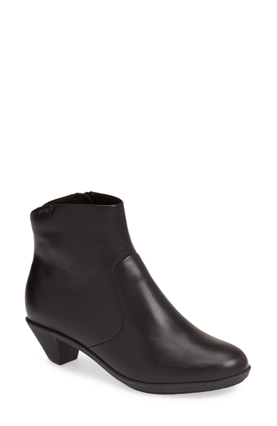 'Agatha' Ankle Boot, Main, color, 001