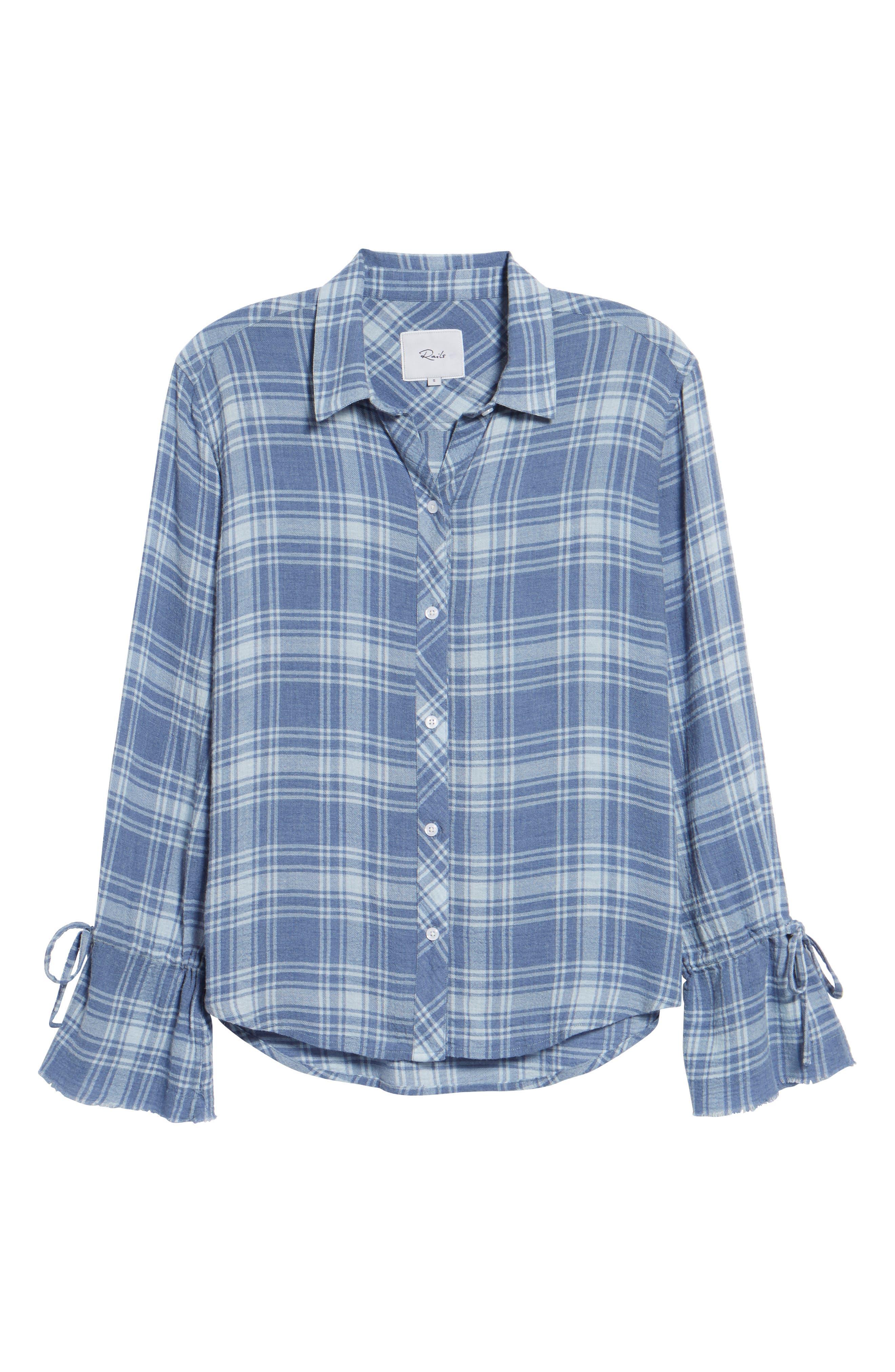 Astrid Tie Cuff Shirt,                             Alternate thumbnail 6, color,                             464