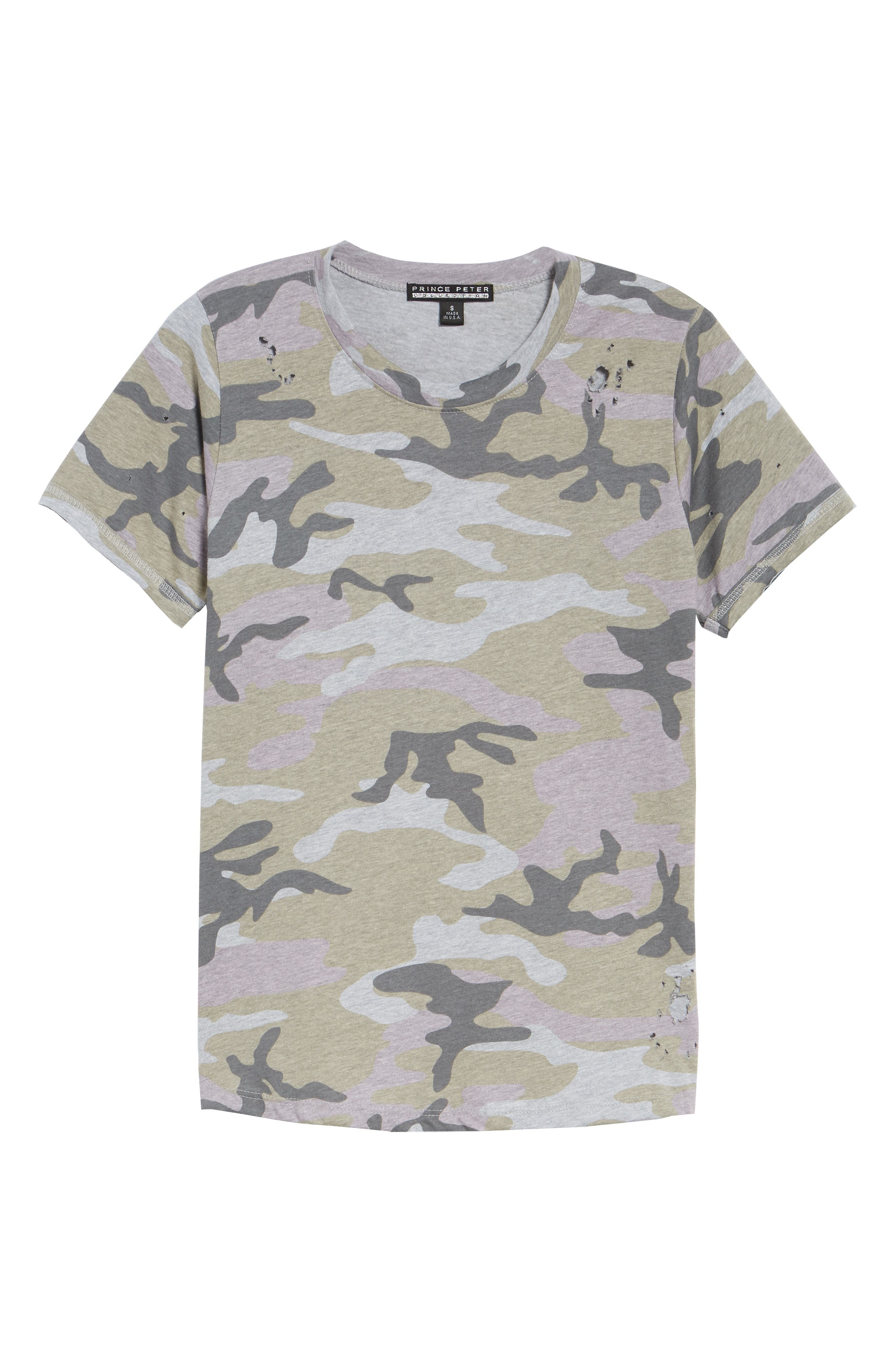 Distressed Camo Tee,                             Alternate thumbnail 7, color,                             350