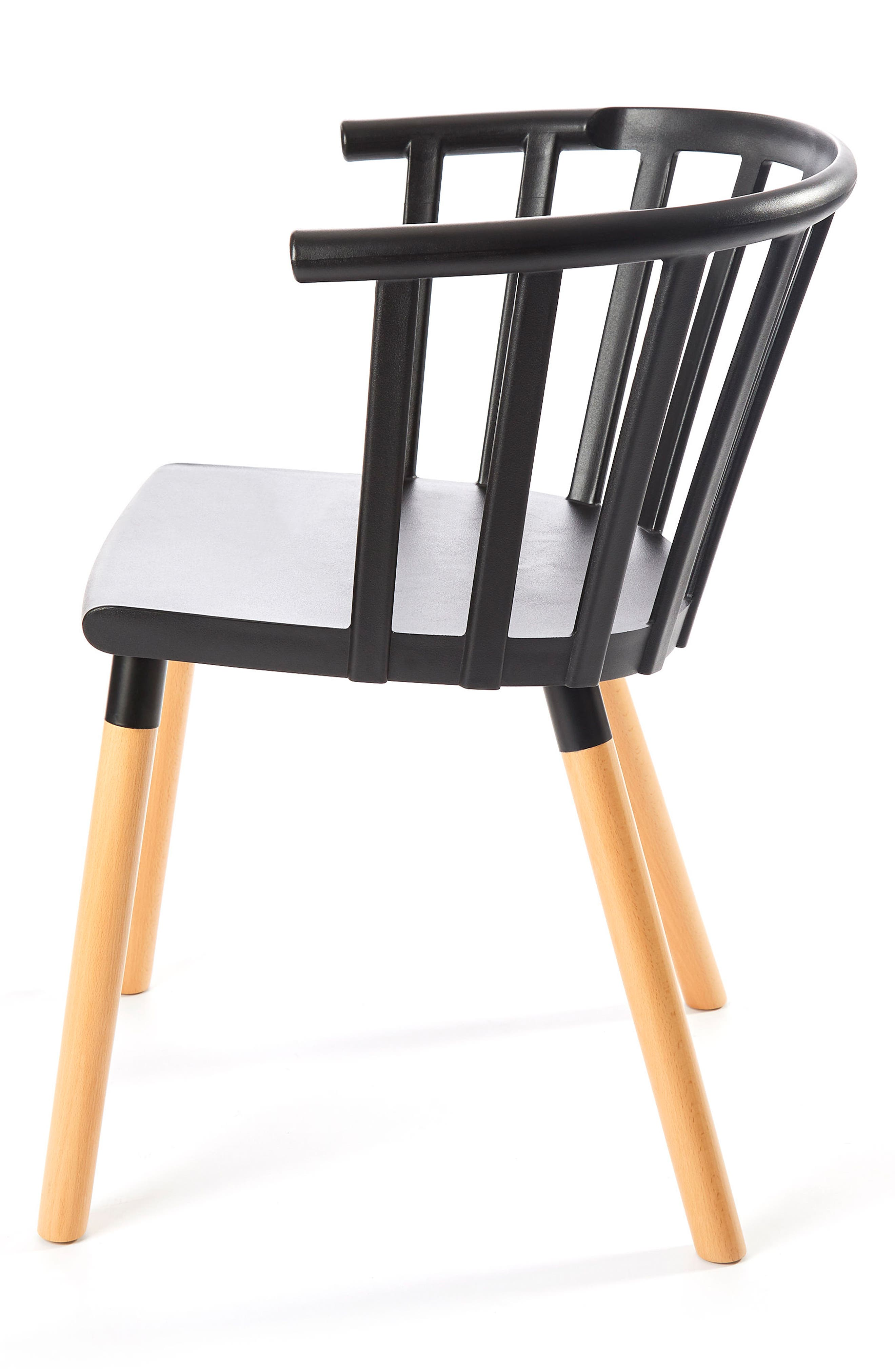 Kaptain Chair,                             Alternate thumbnail 4, color,                             MYSTERIOUS BLACK