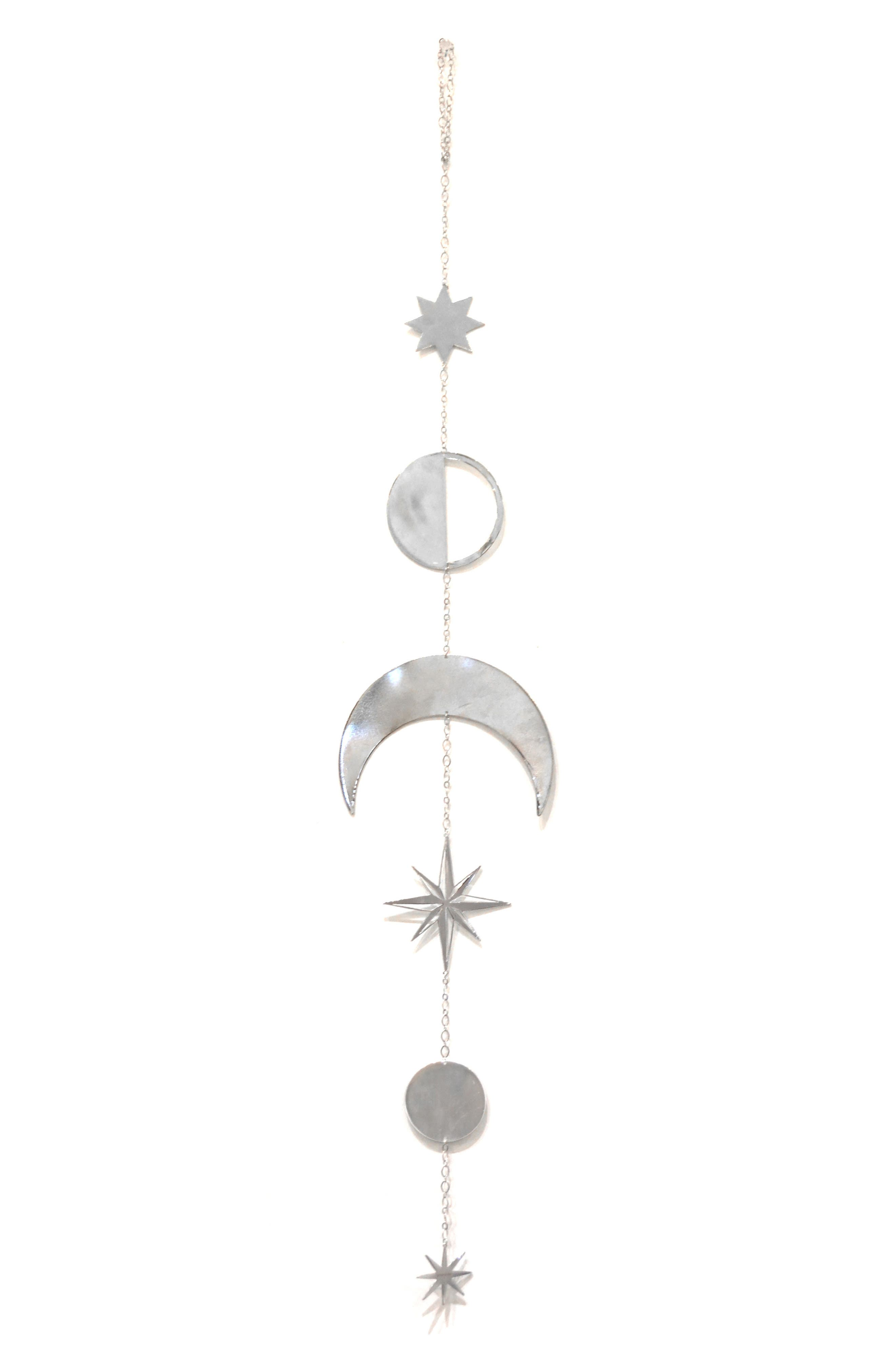 Lunar North Star Chime, Main, color, SILVER