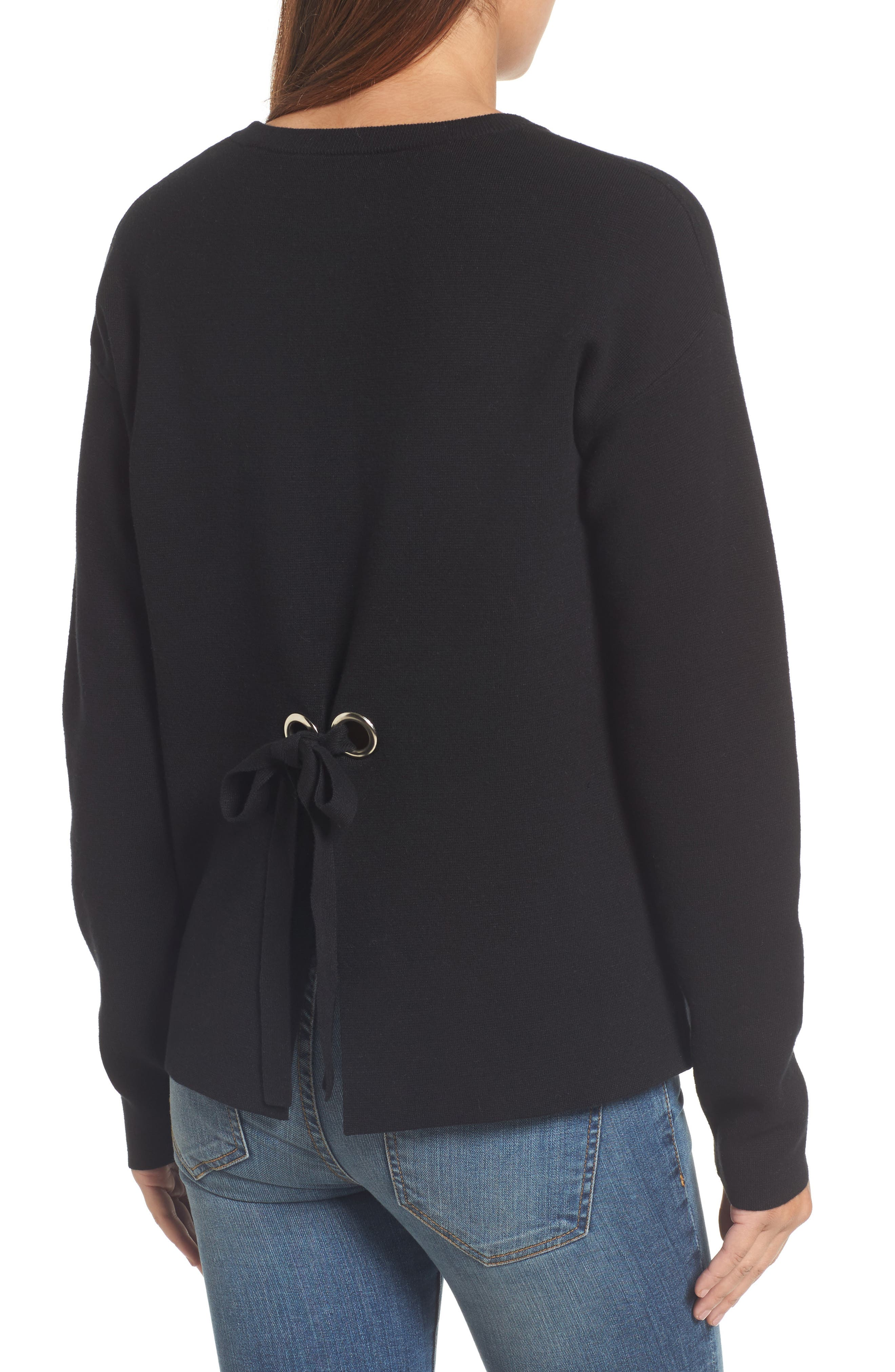 Tie Back Sweater,                             Alternate thumbnail 4, color,