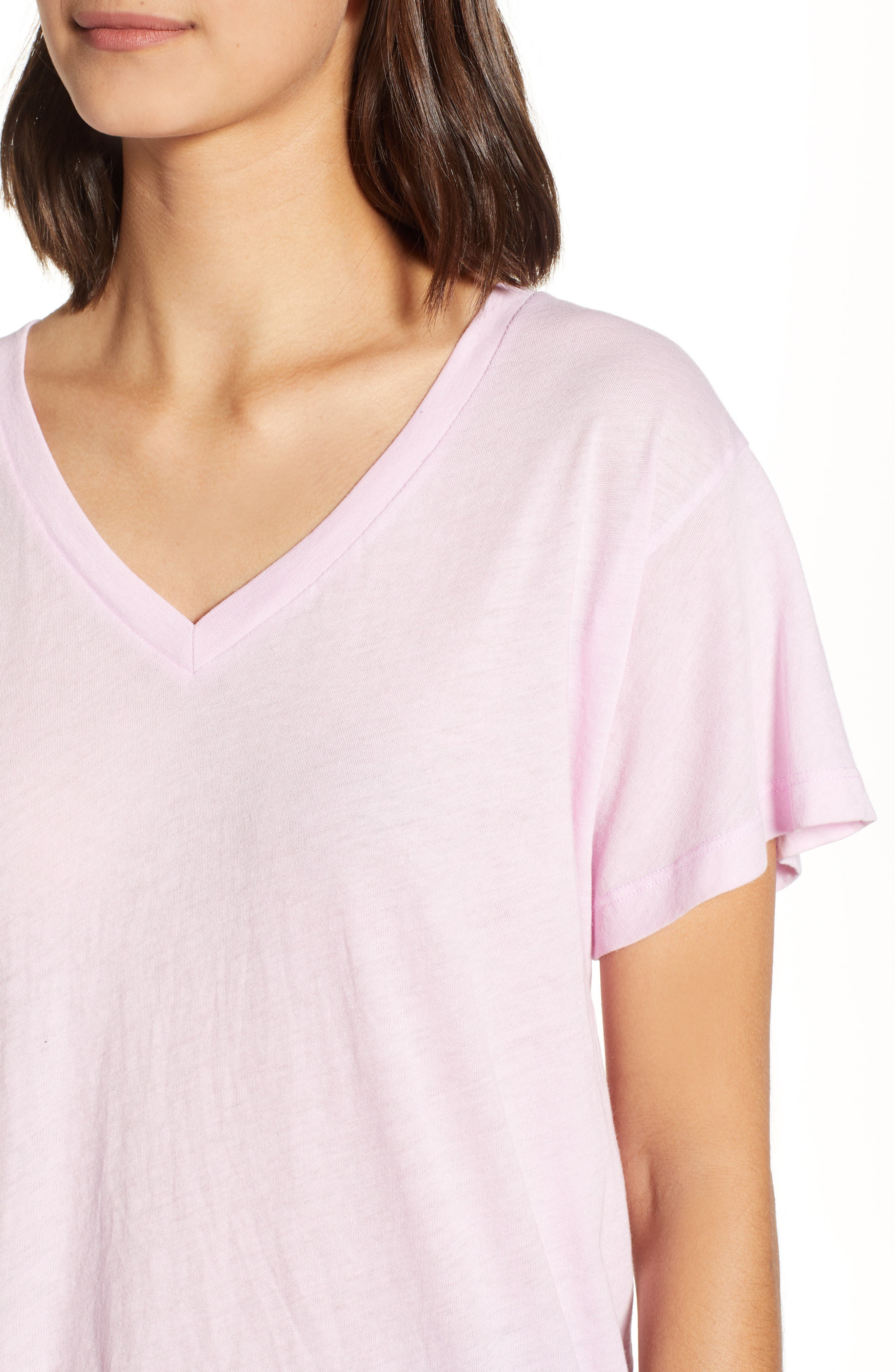 Romeo V-Neck Tee,                             Alternate thumbnail 4, color,                             ORCHID