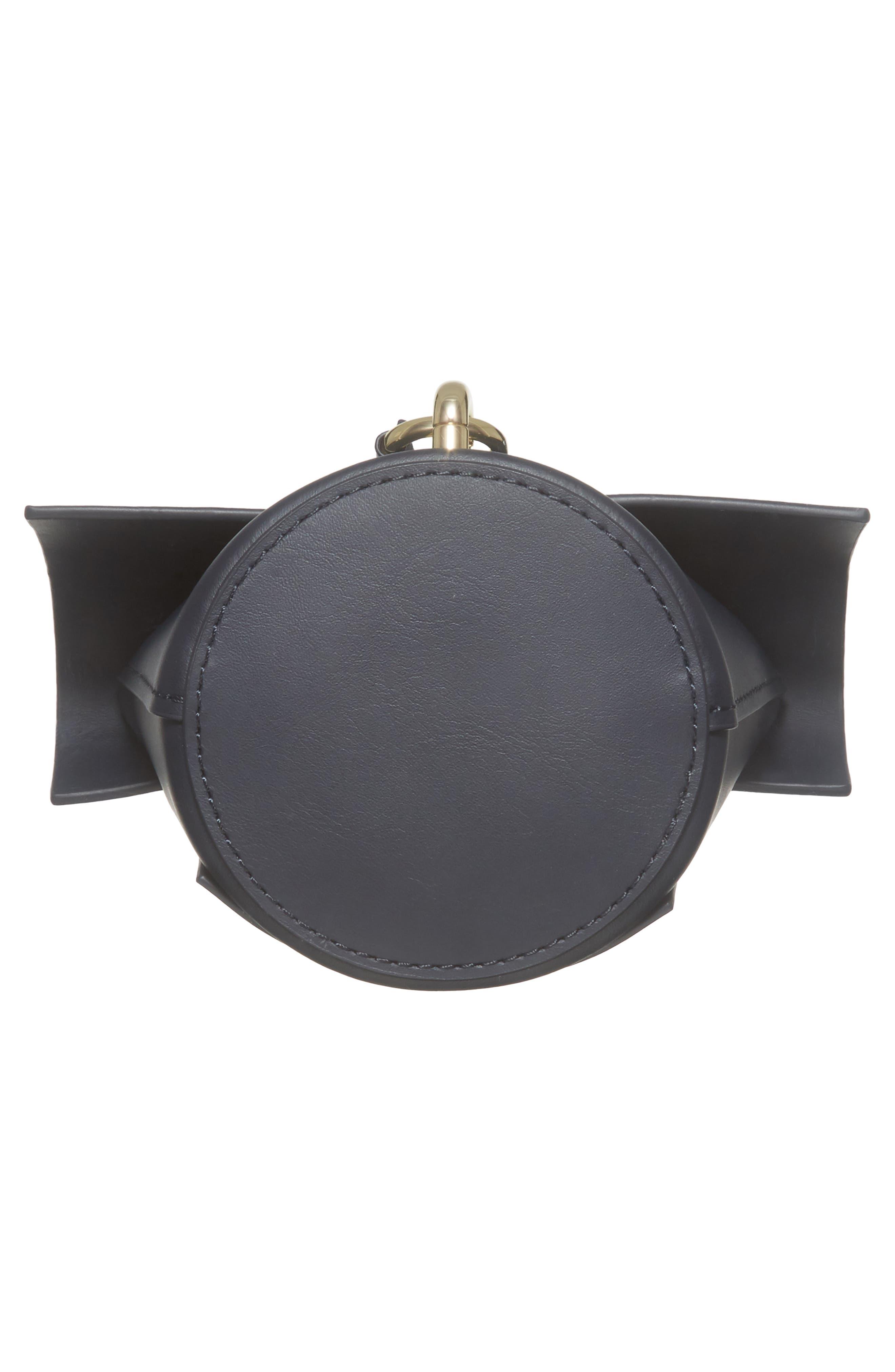 Belay Calfskin Leather Museum Wristlet,                             Alternate thumbnail 6, color,                             001