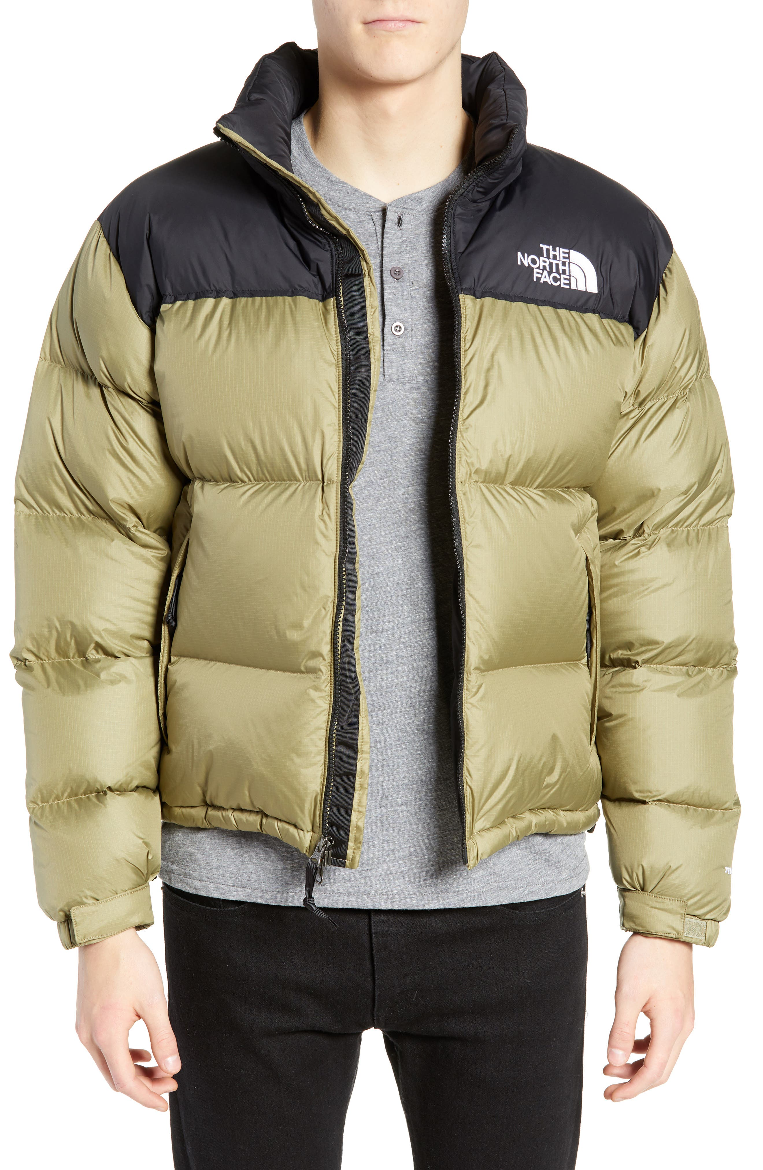 Nuptse 1996 Packable Quilted Down Jacket,                         Main,                         color, TUMBLEWEED GREEN