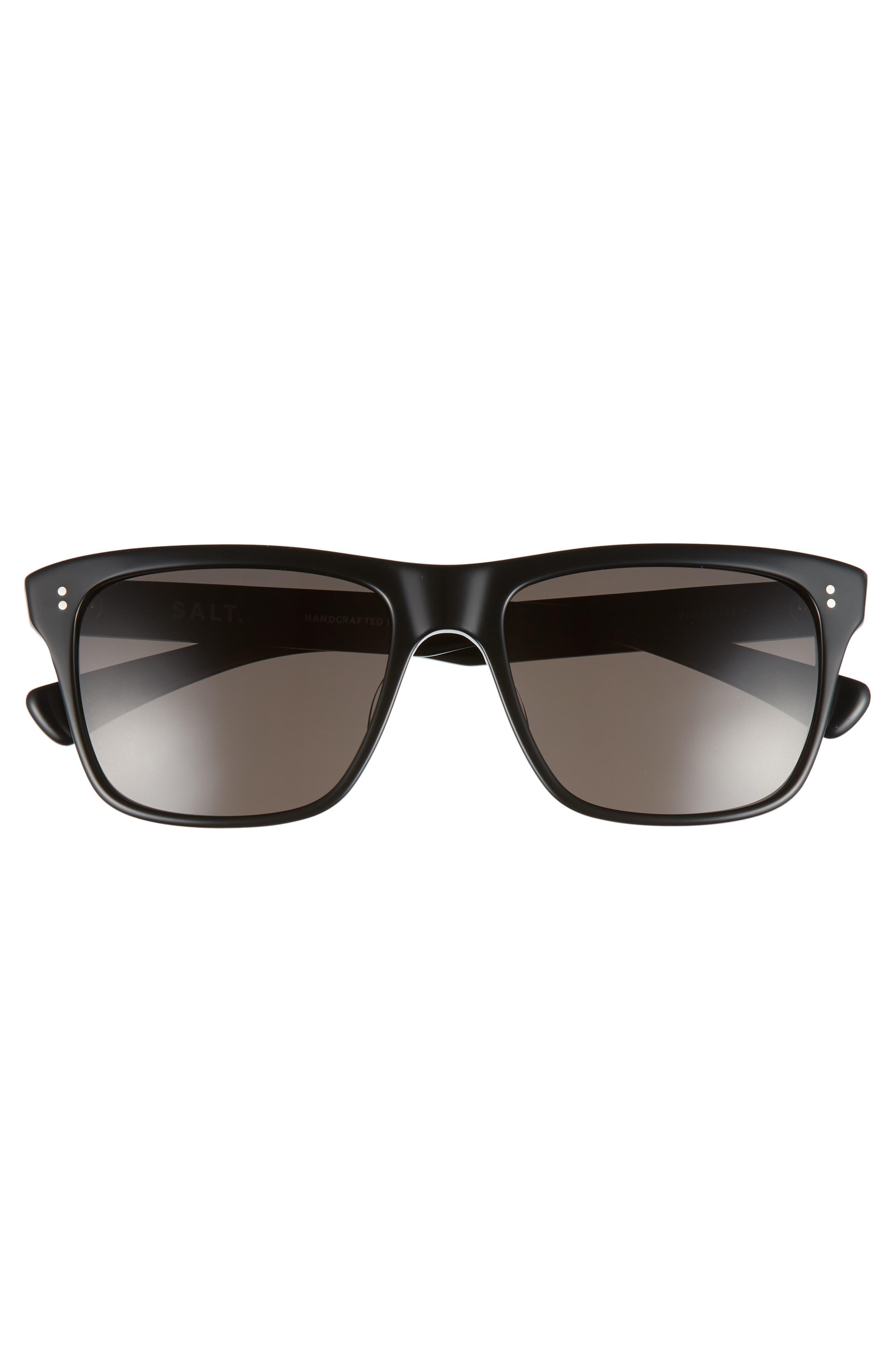 Elihu 57mm Polarized Sunglasses,                             Alternate thumbnail 2, color,                             BLACK